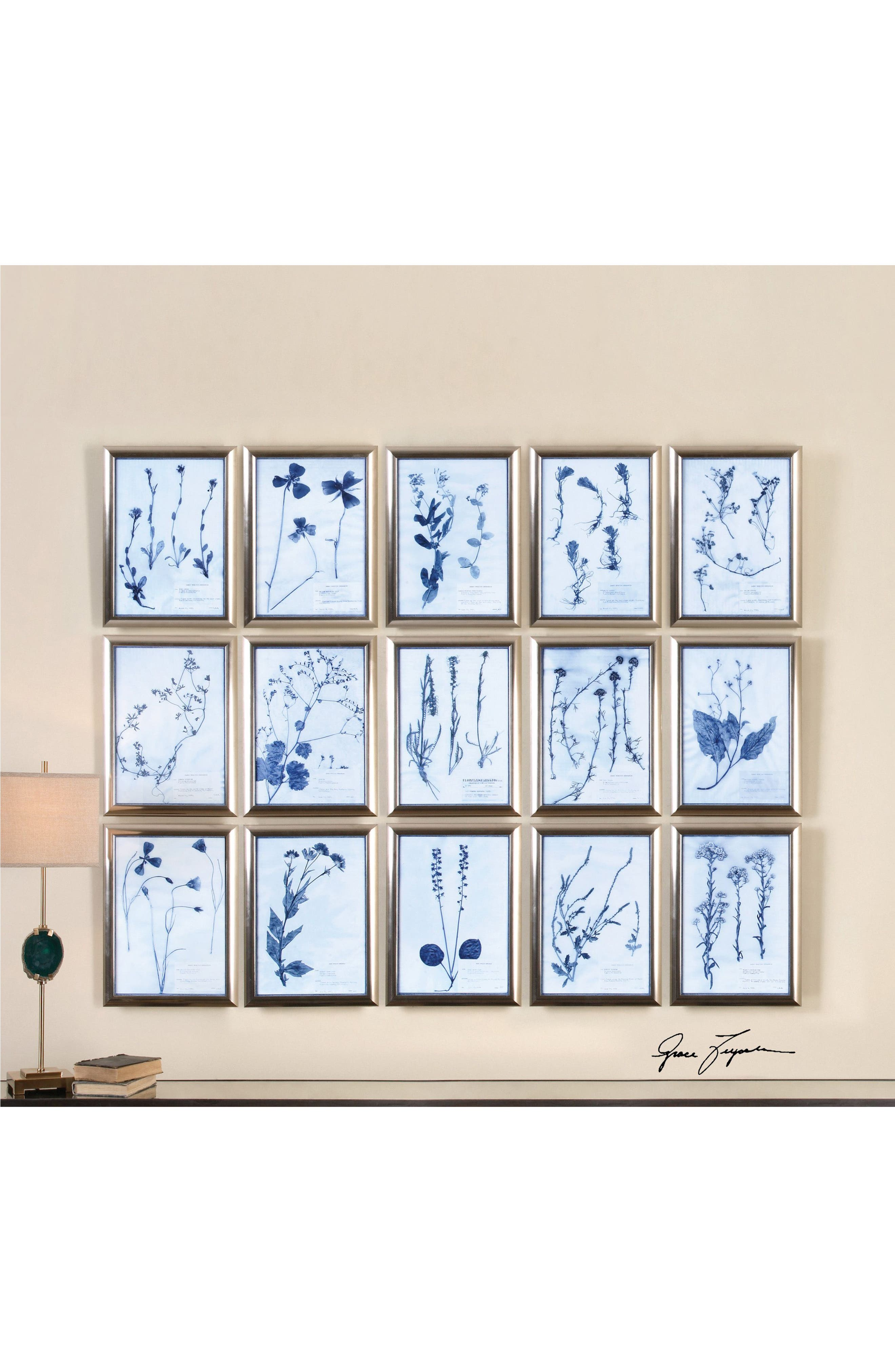 Pressed Flower 15-Piece Wall Art Set,                             Alternate thumbnail 2, color,                             020