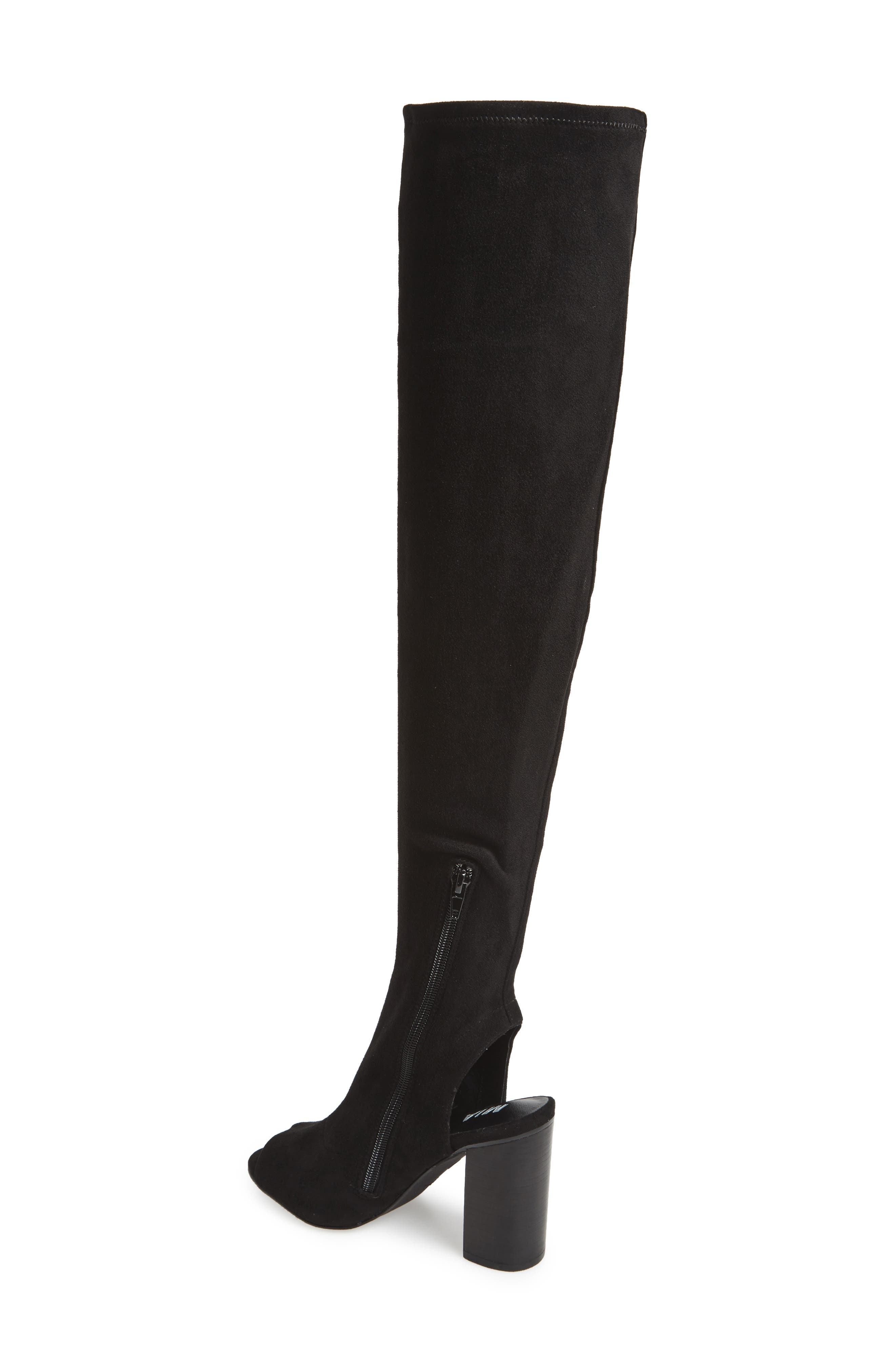Robyn Cutout Over the Knee Boot,                             Alternate thumbnail 2, color,                             001