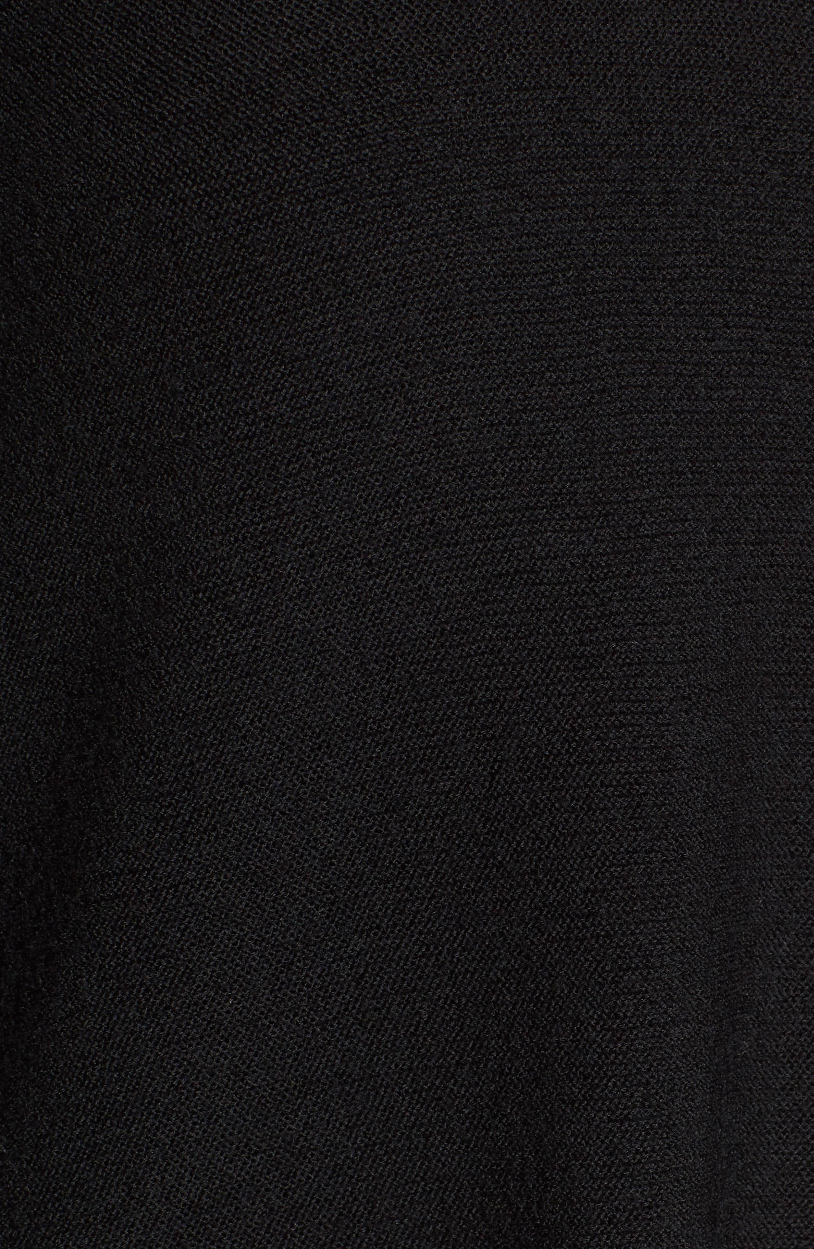 High/Low Merino Wool Sweater,                             Alternate thumbnail 5, color,                             001