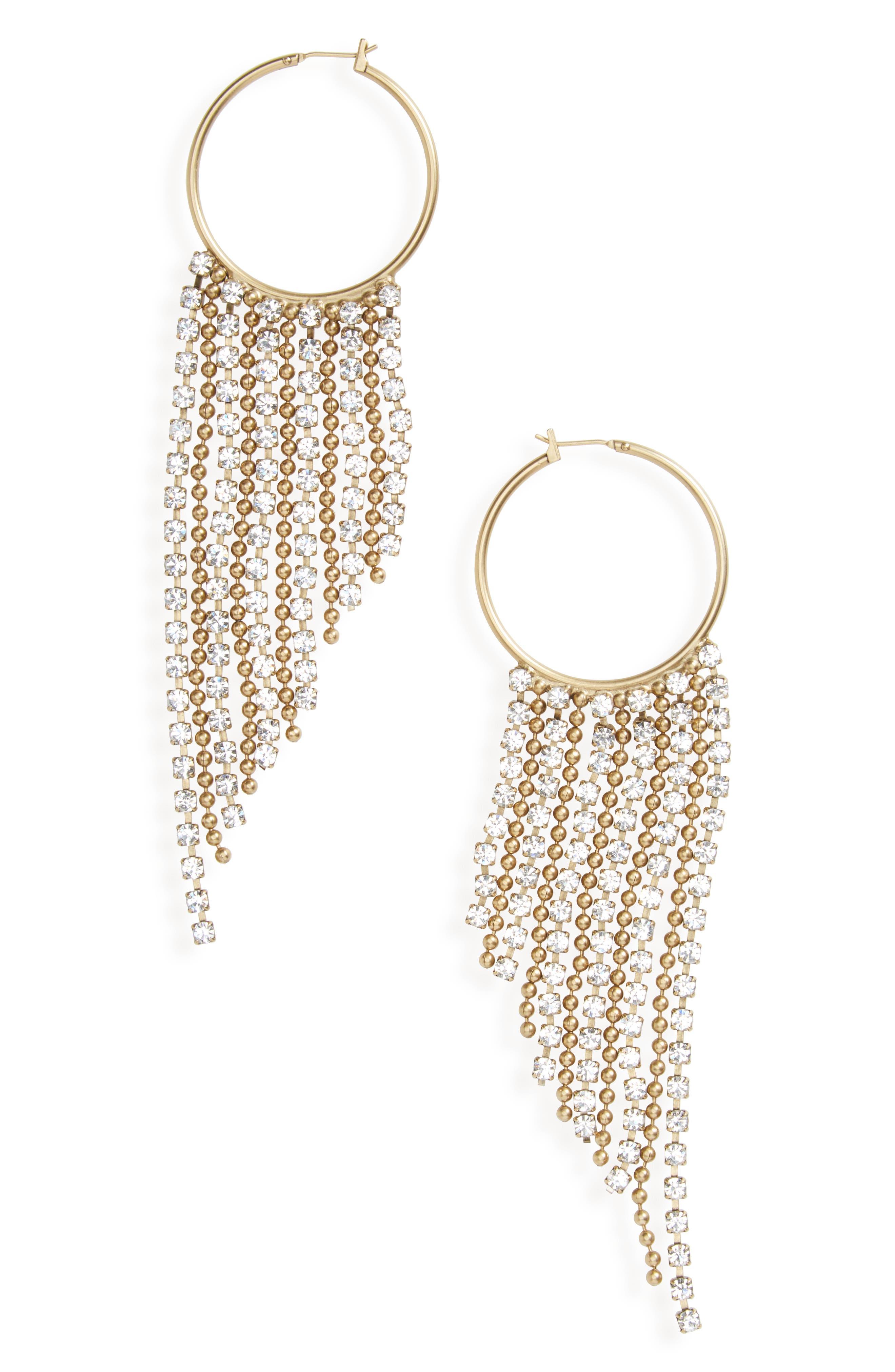 Joanna Fringe Hoop Earrings,                             Main thumbnail 4, color,