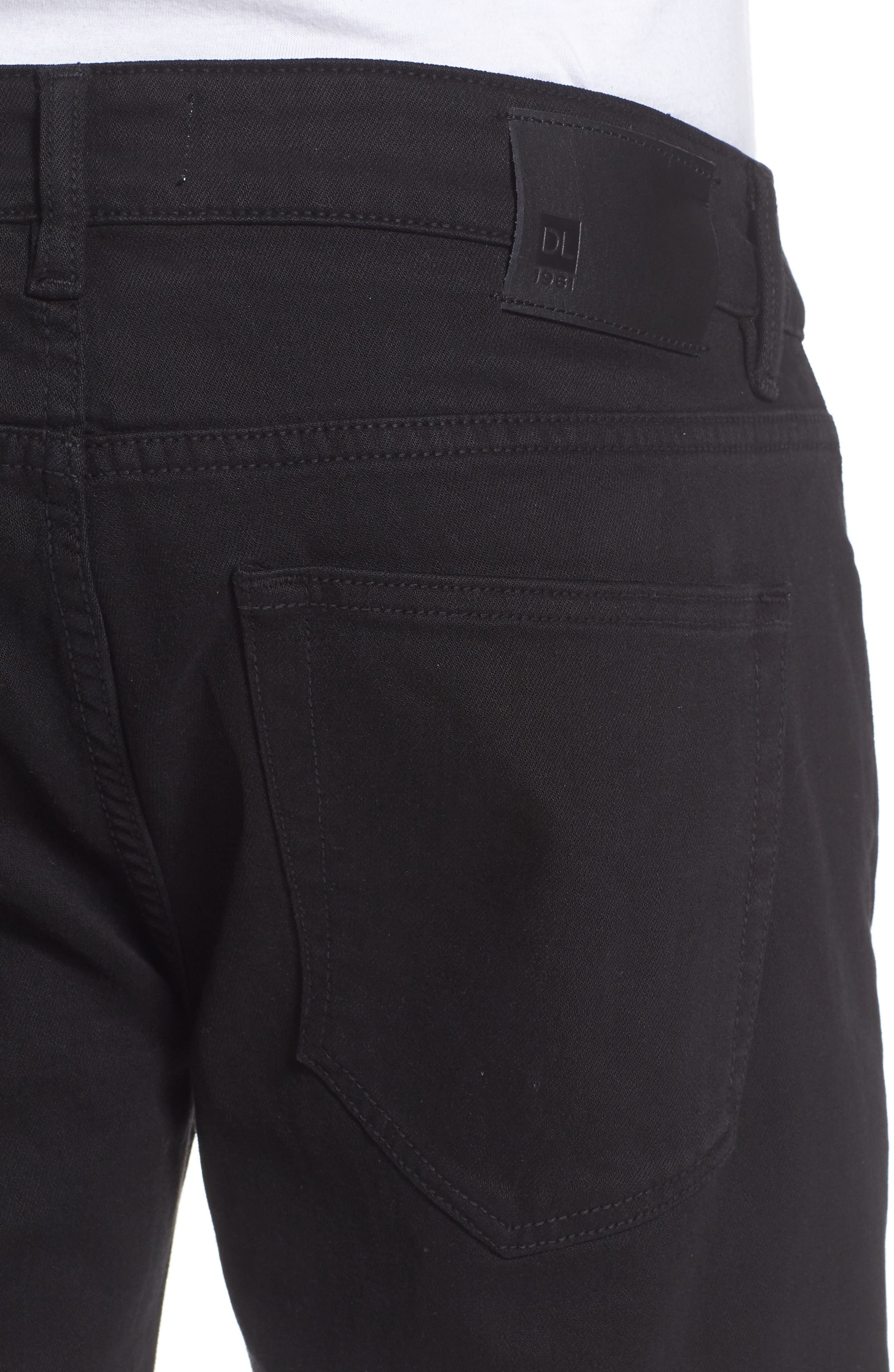 Nick Slim Fit Flat Front Pants,                             Alternate thumbnail 4, color,                             001