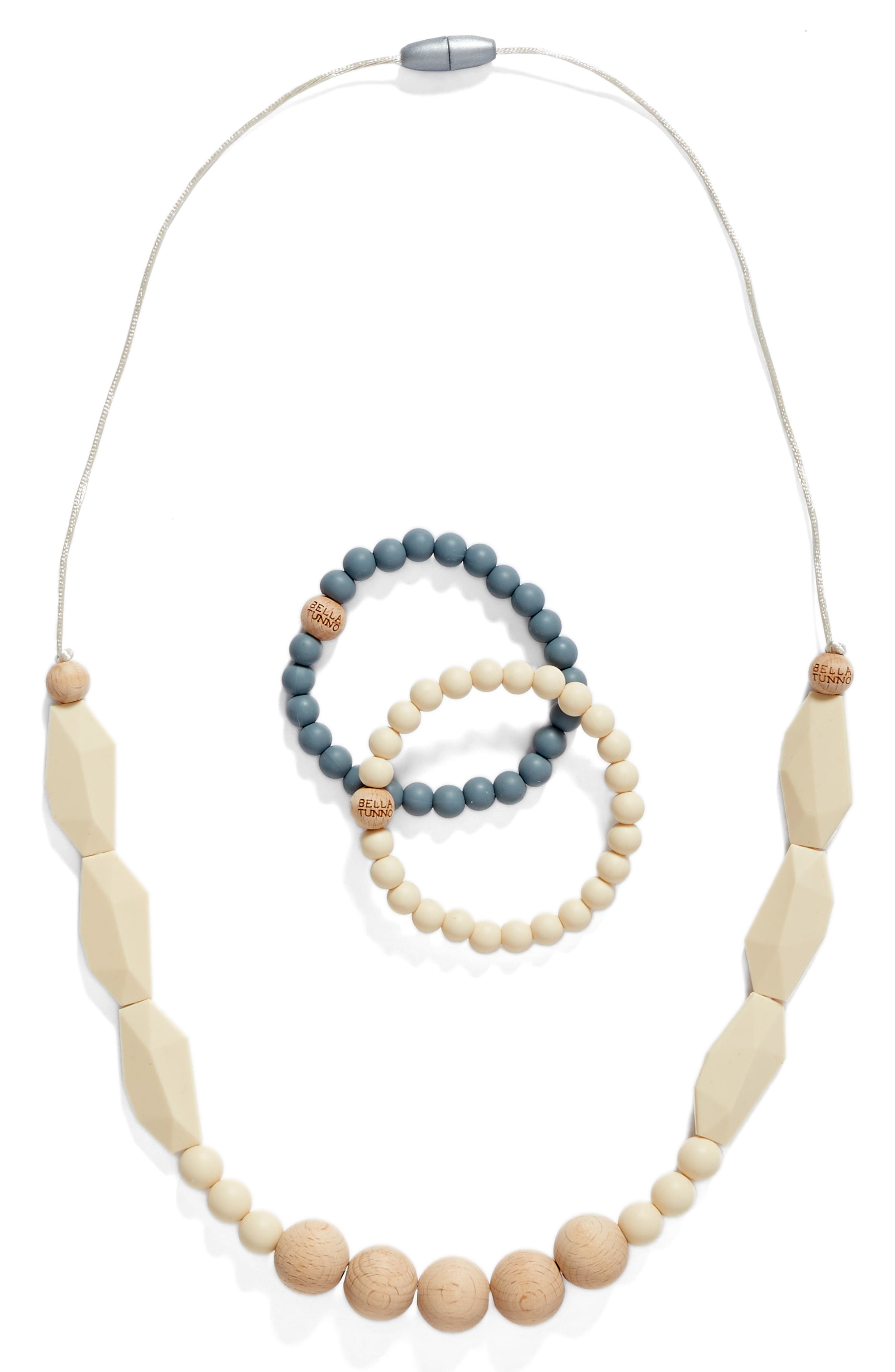 3-Piece Teething Necklace & Bracelet Set,                             Main thumbnail 2, color,