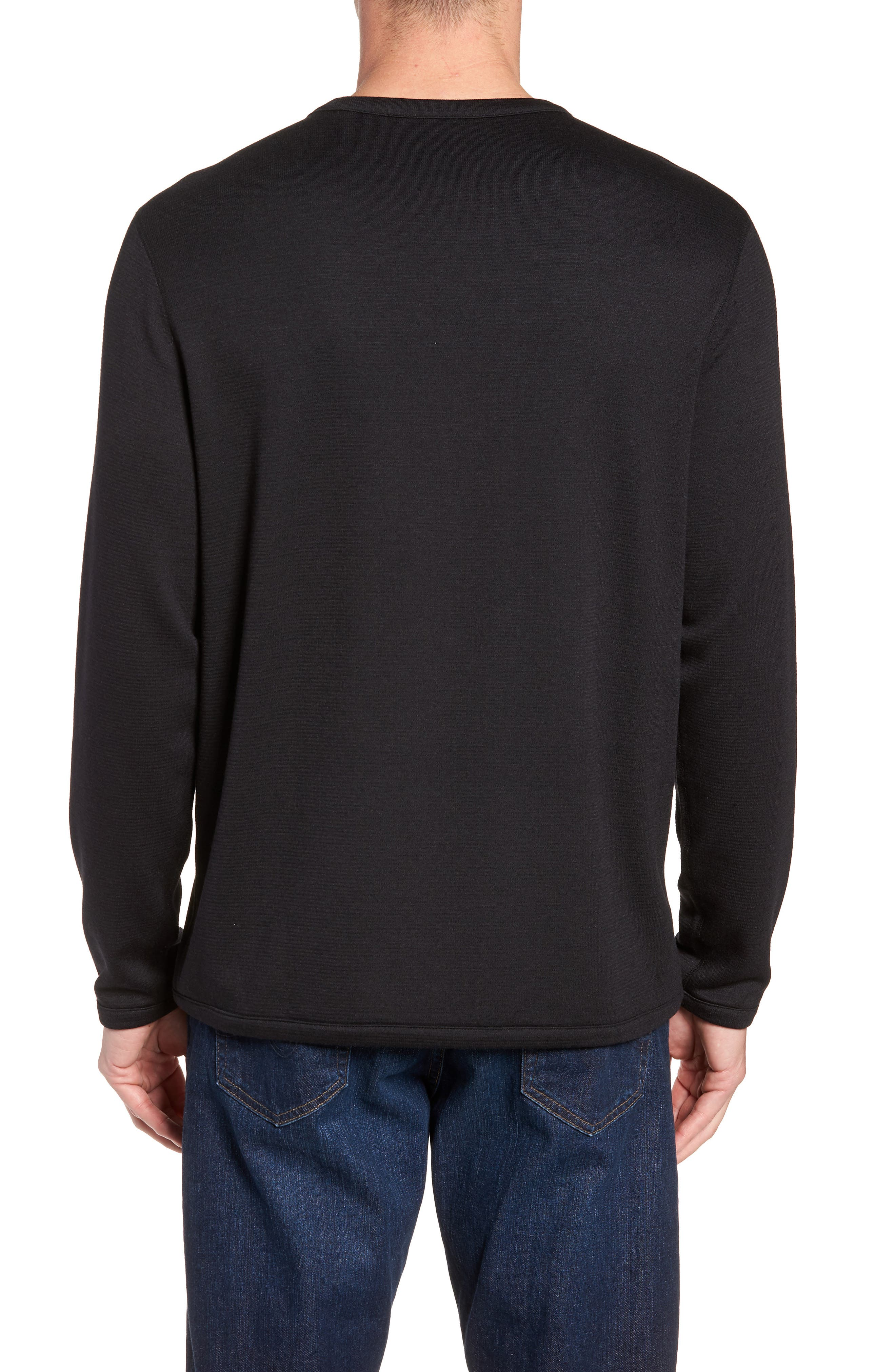 Crewneck Sweater,                             Alternate thumbnail 3, color,                             BLACK CAVIAR