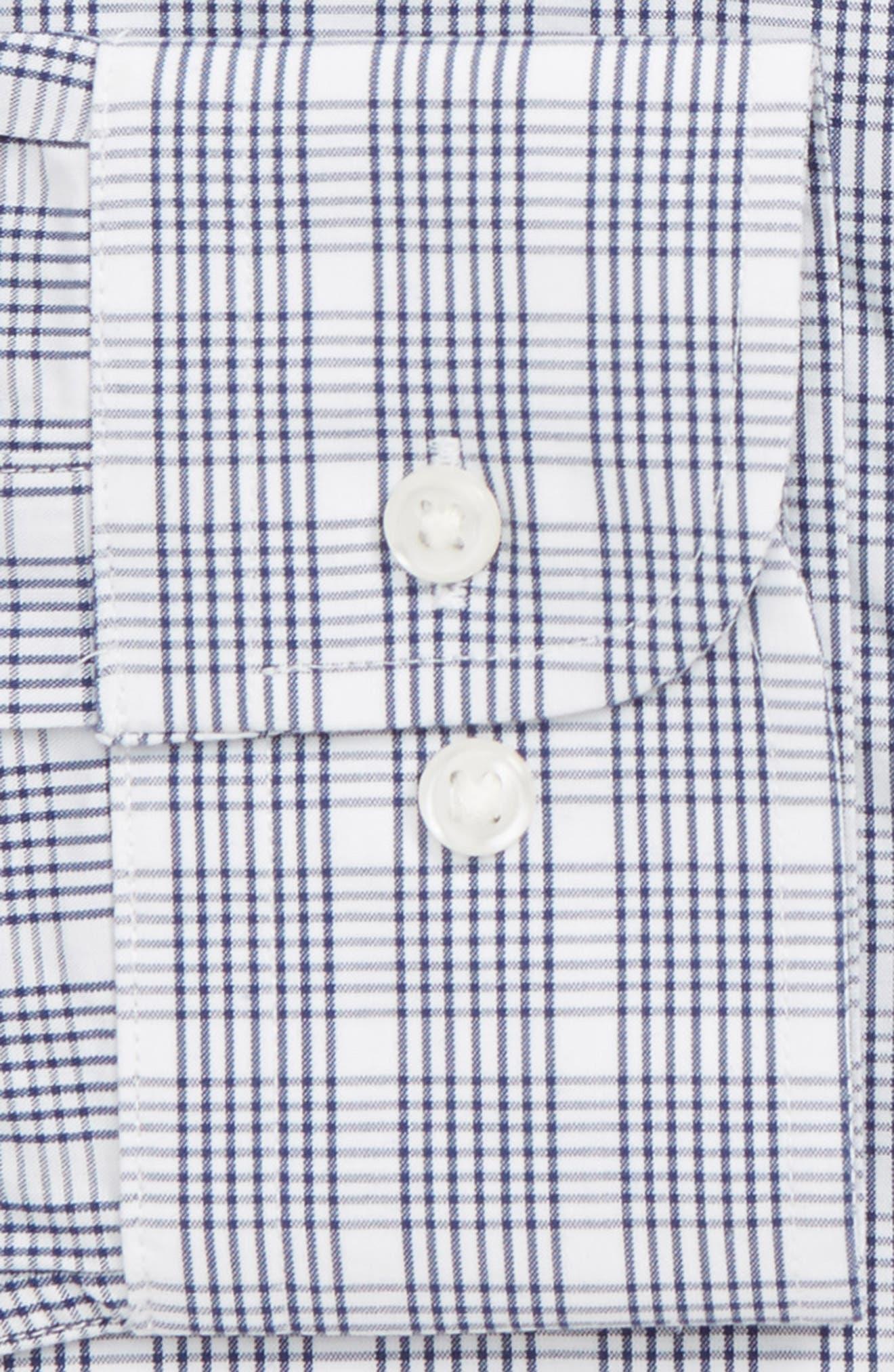 Tech-Smart Trim Fit Plaid Dress Shirt,                             Alternate thumbnail 6, color,                             410