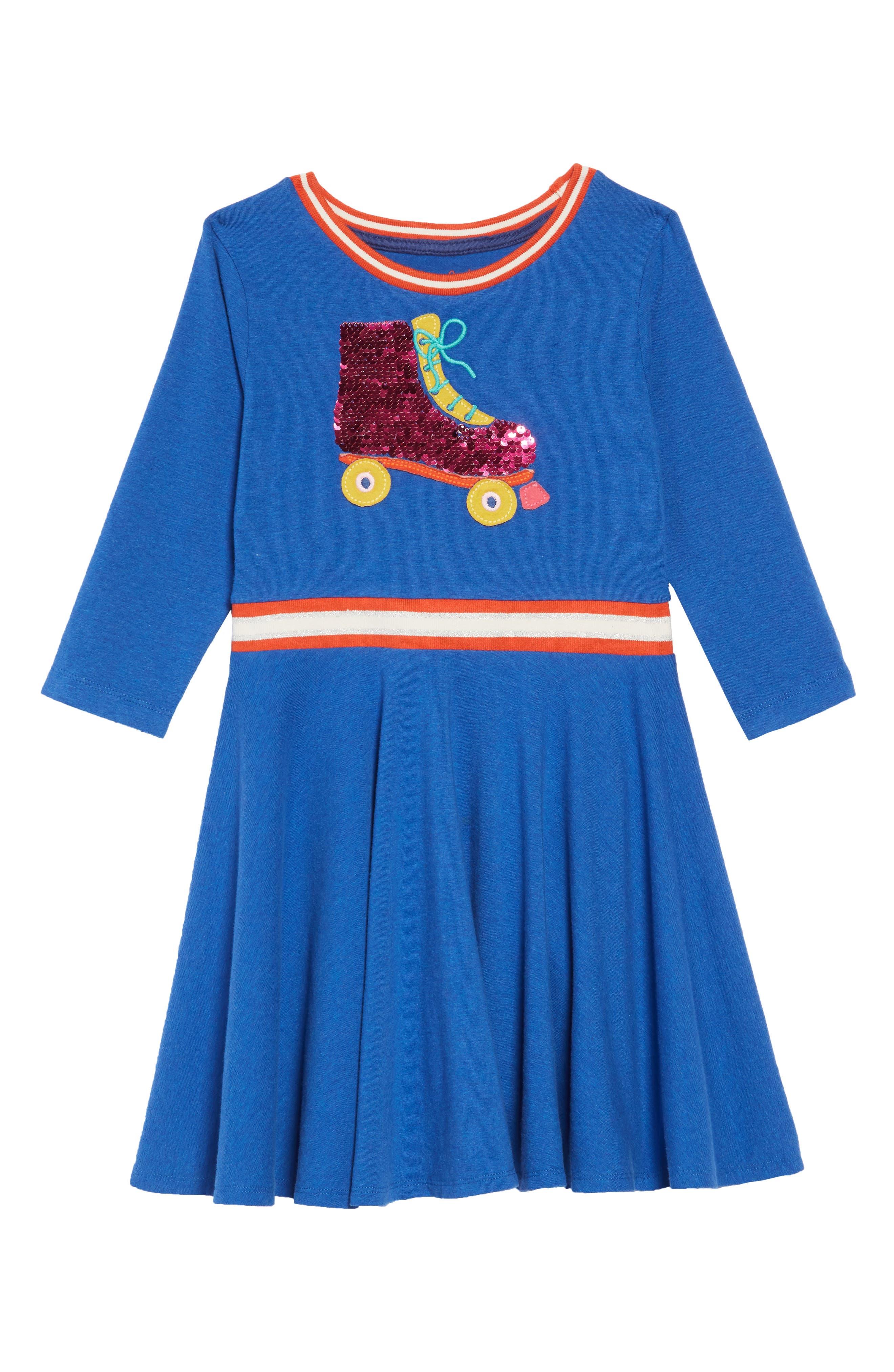 Color Change Sequin Skater Dress,                             Main thumbnail 1, color,                             424
