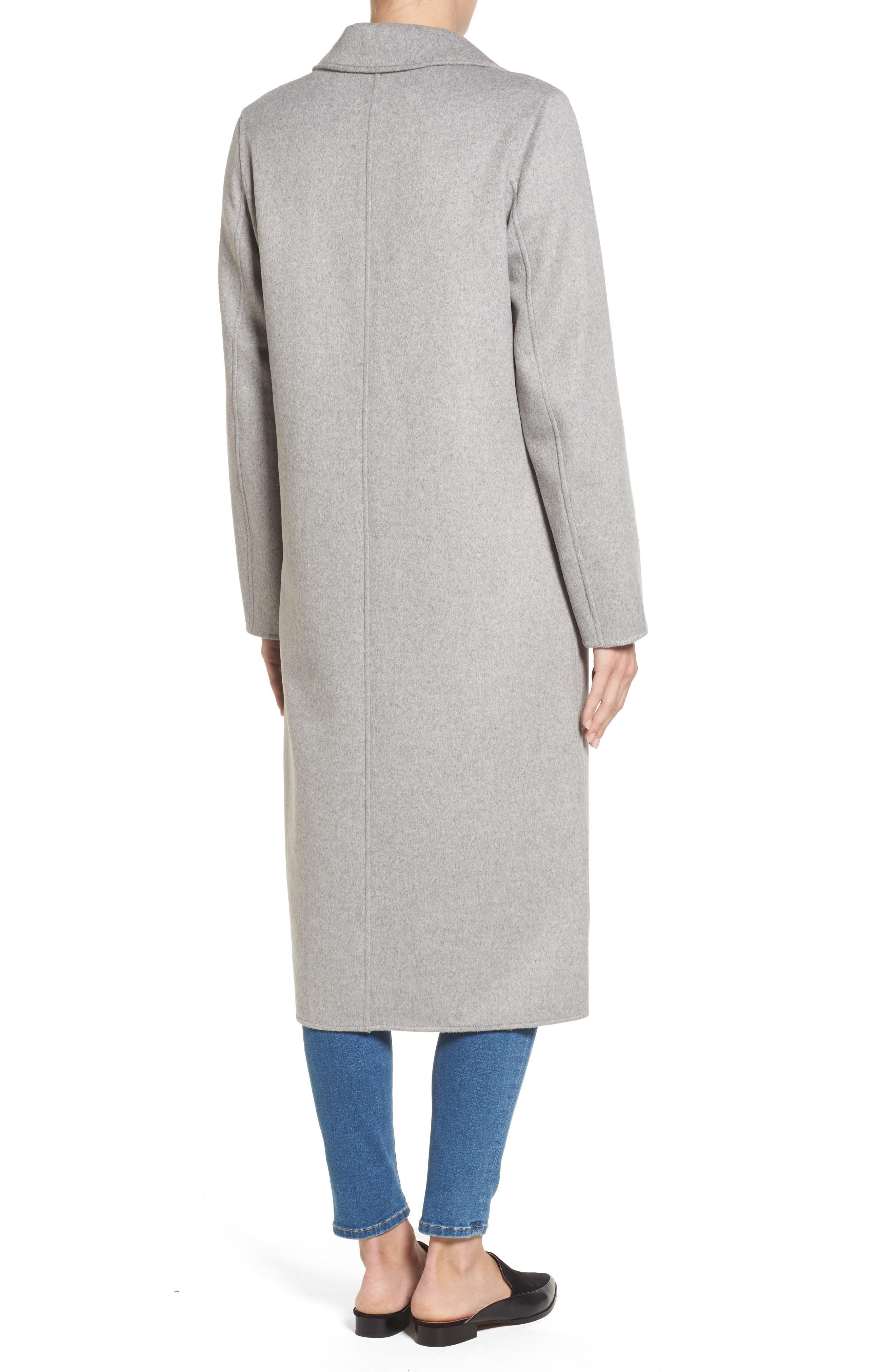 Double Face Wool Blend Long Coat,                             Alternate thumbnail 2, color,                             033