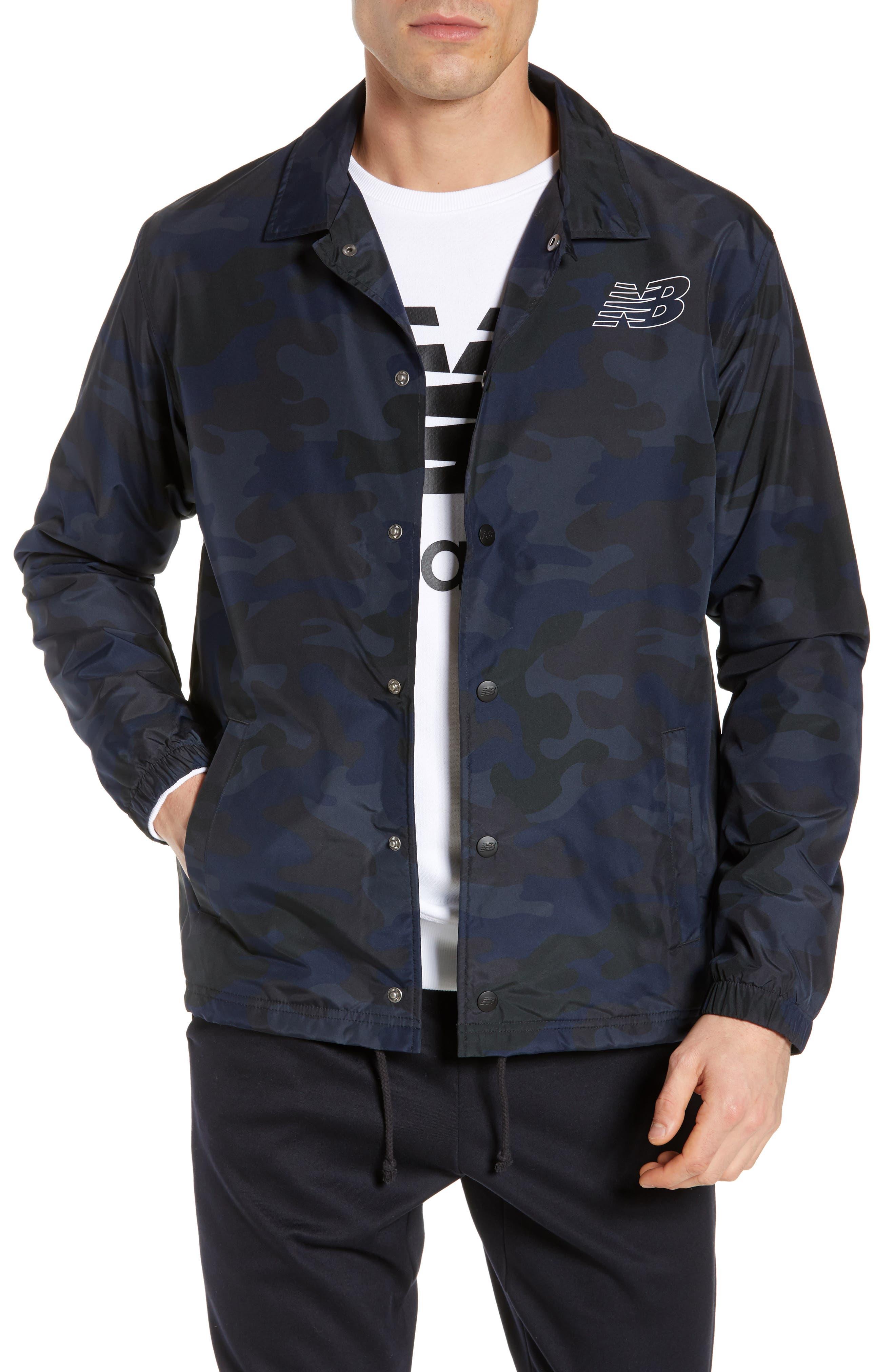 Classic Coach's Jacket,                             Main thumbnail 1, color,                             BLACK MULTI