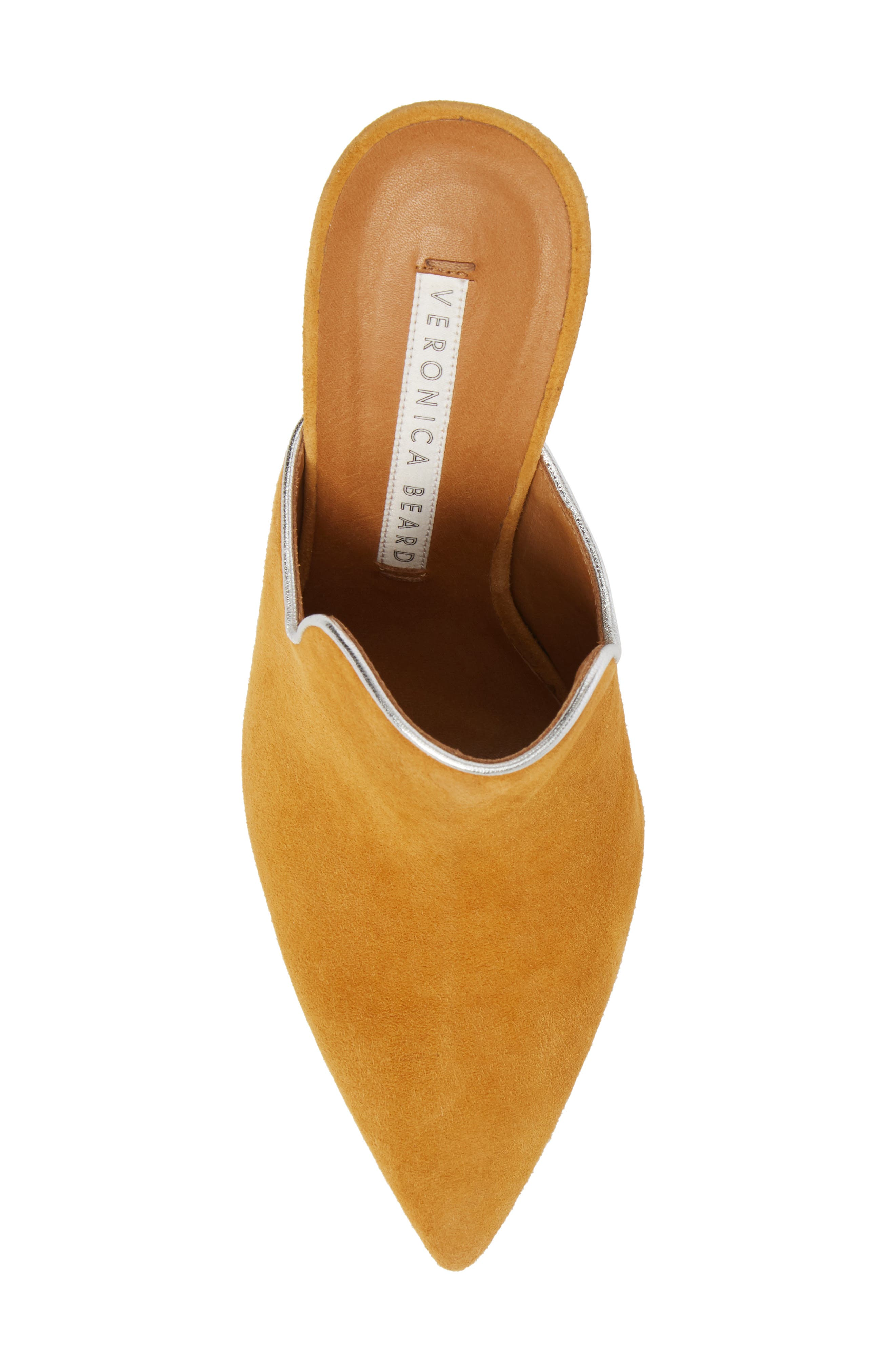 Penn Pointy Toe Mule,                             Alternate thumbnail 5, color,                             MARIGOLD/ SILVER