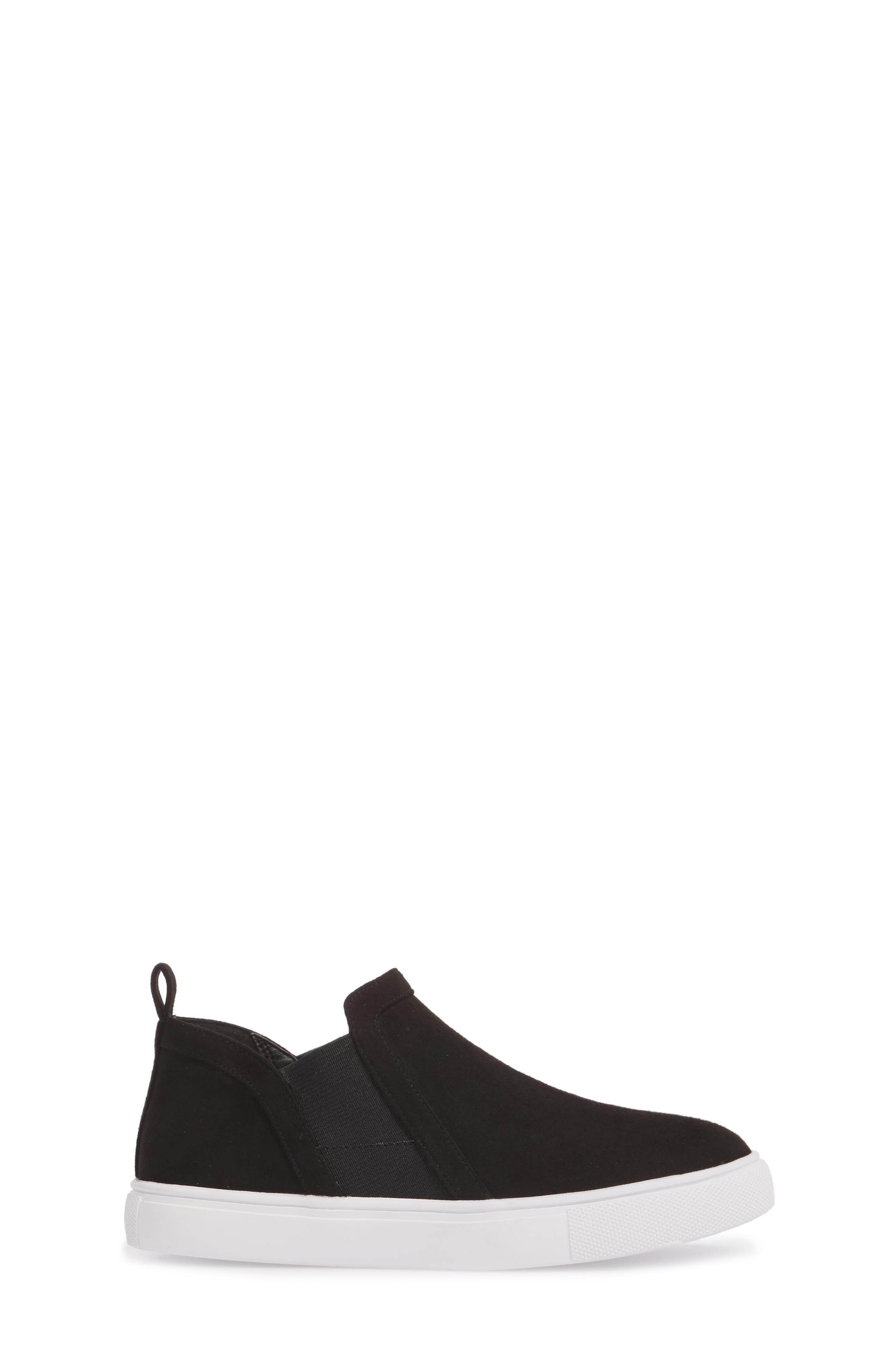 Scarlett Sneaker,                             Alternate thumbnail 3, color,                             BLACK FAUX SUEDE