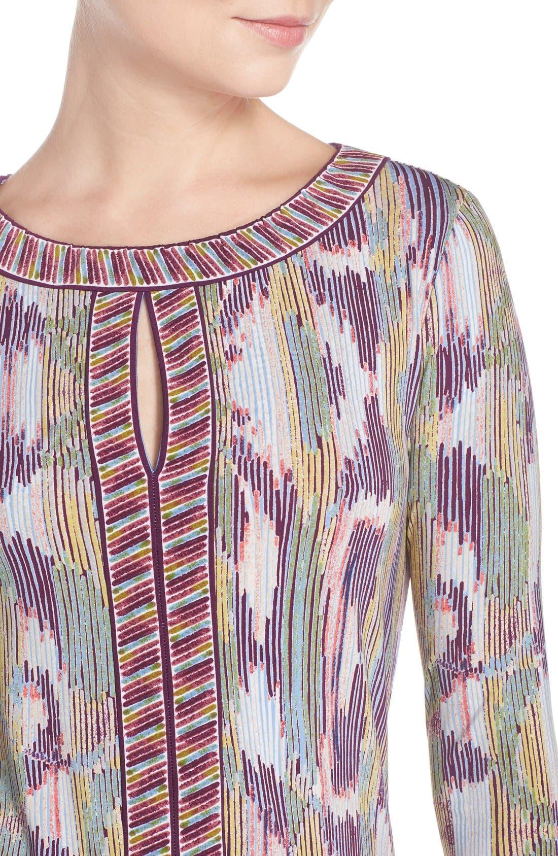 'Tawnya' Print Jersey Dress,                             Alternate thumbnail 3, color,                             590