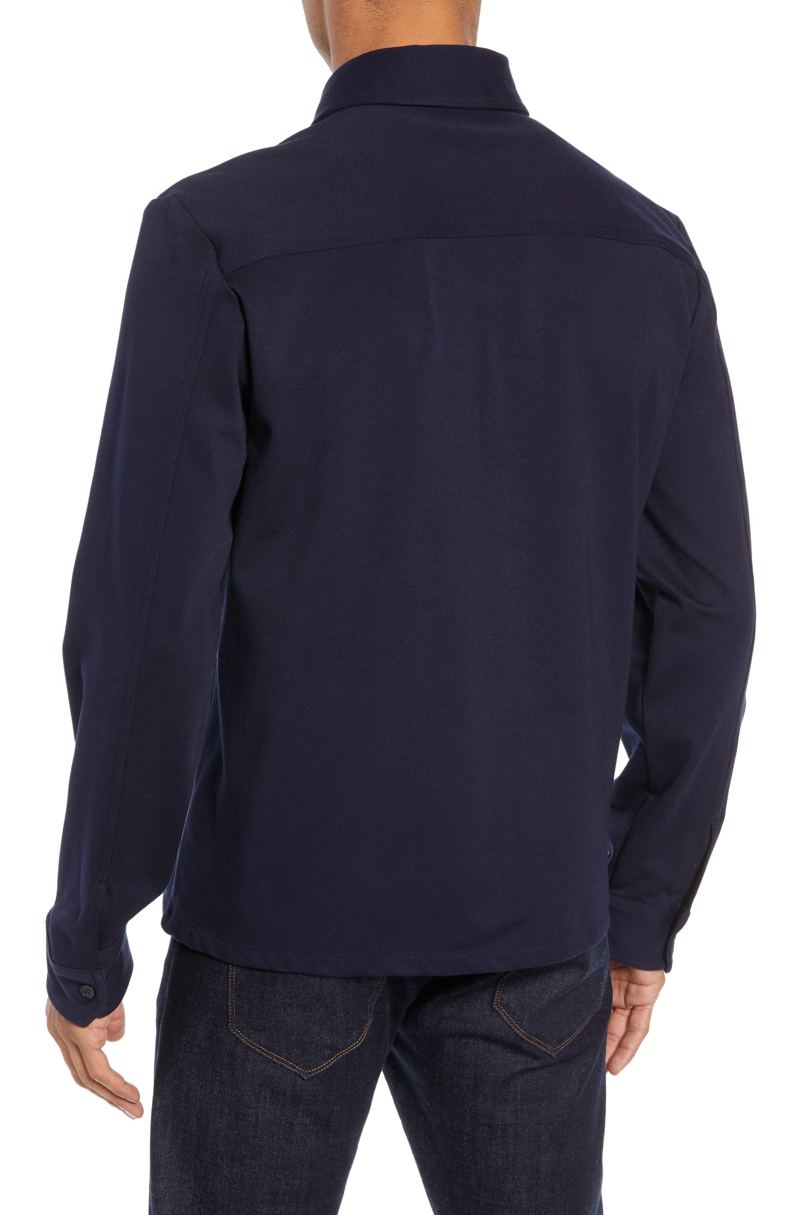 Zip Front Shirt Jacket,                             Alternate thumbnail 2, color,                             NAVY NIGHT