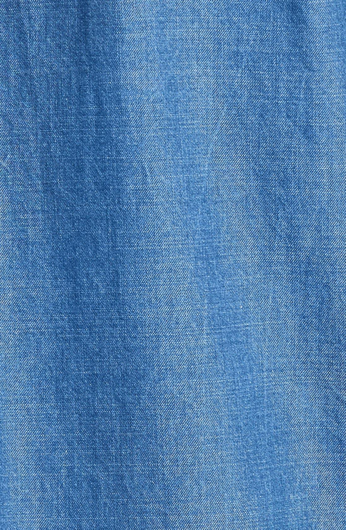 Denim Tunic Shirt,                             Alternate thumbnail 3, color,                             401