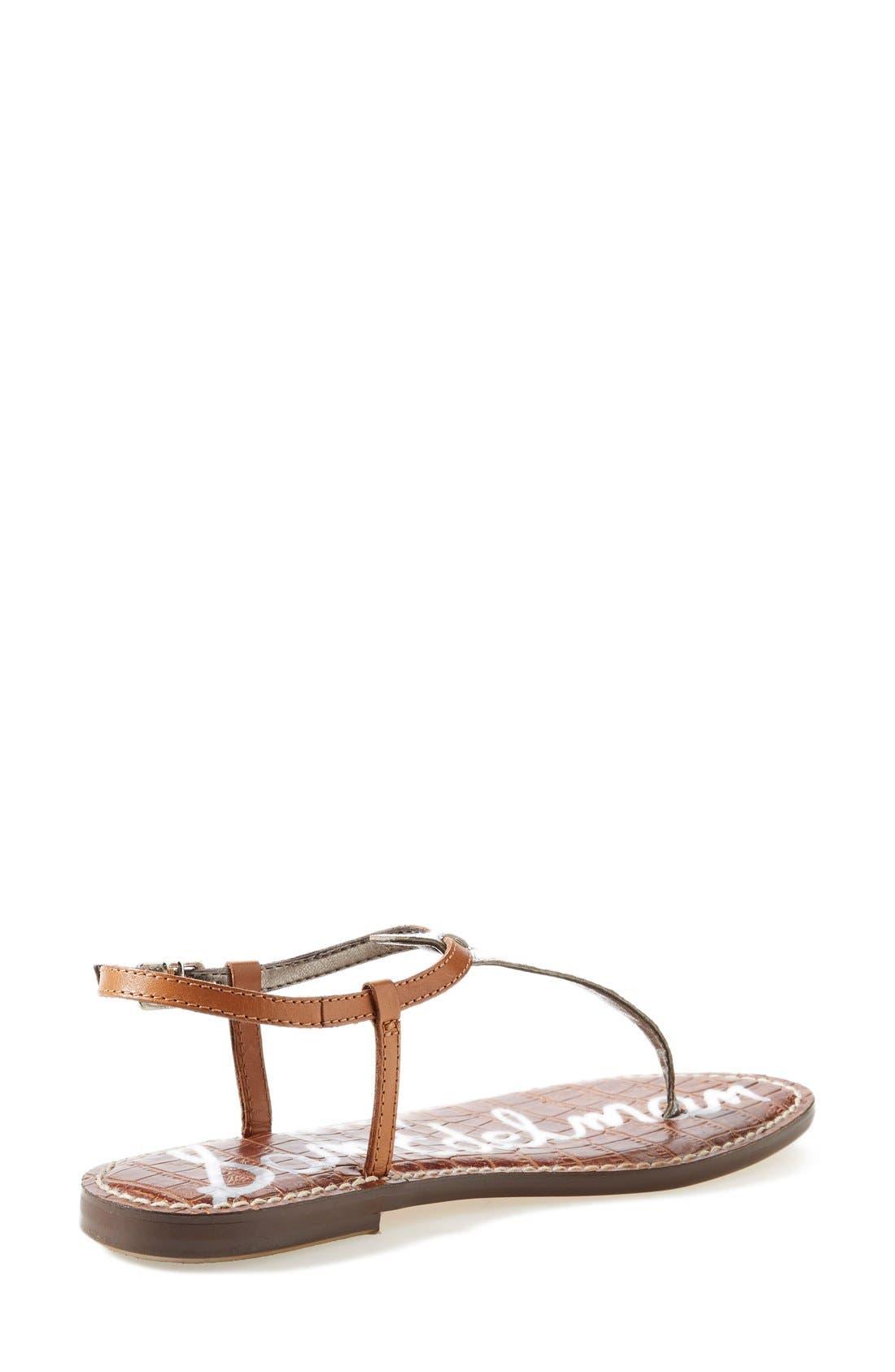 'Gigi' Leather Sandal,                             Alternate thumbnail 5, color,                             045