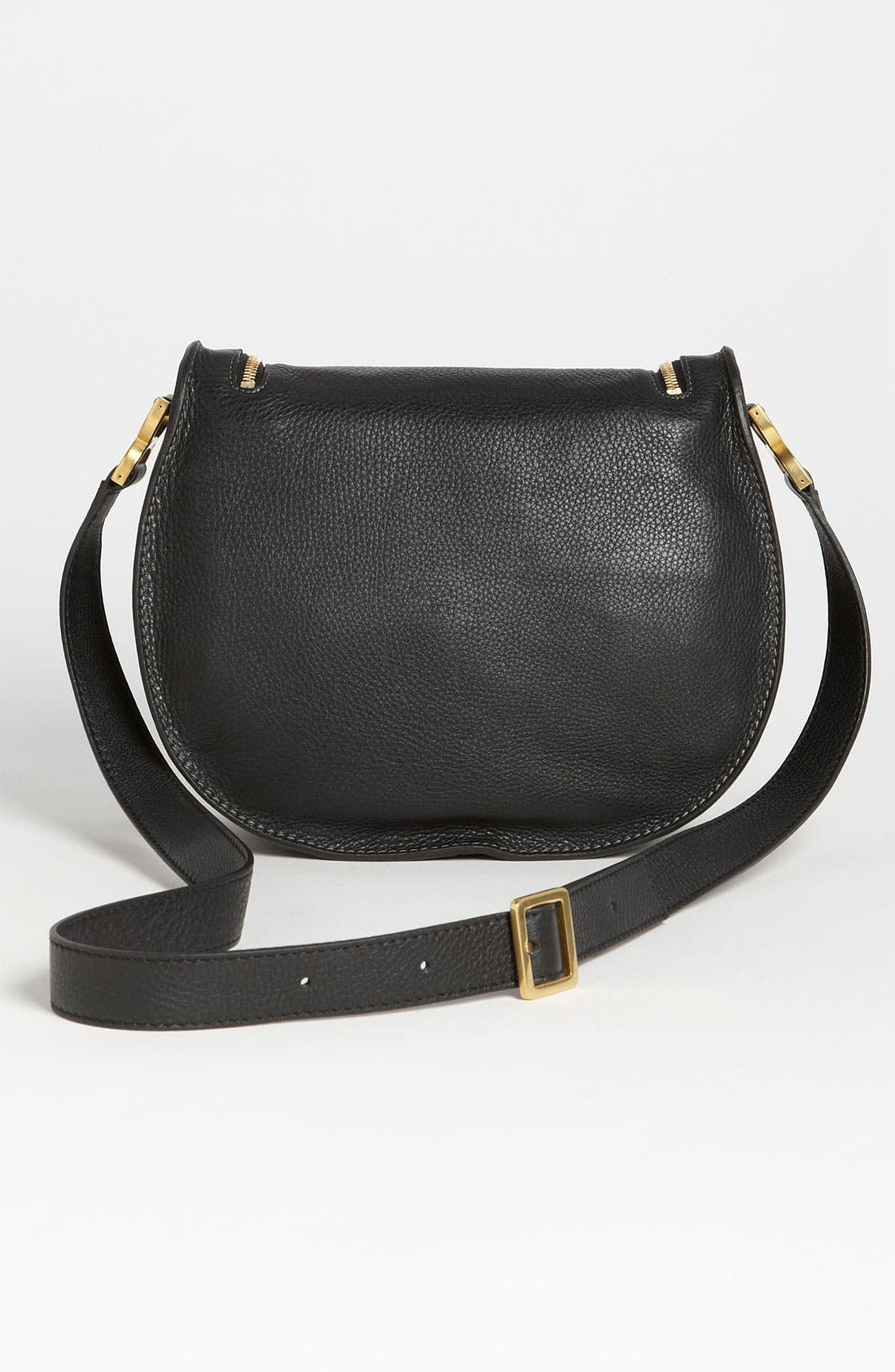 'Marcie' Leather Crossbody Bag,                             Alternate thumbnail 3, color,                             001