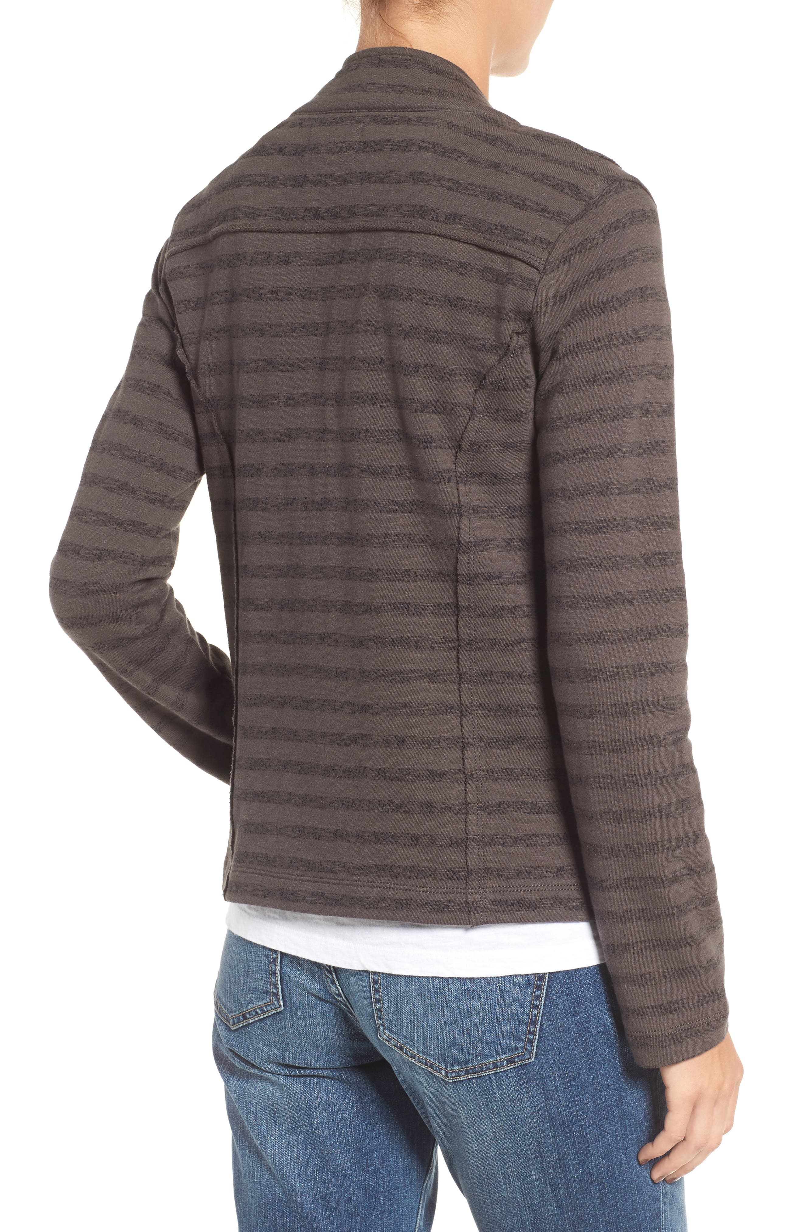 CASLON<SUP>®</SUP>,                             Stripe Moto Jacket,                             Alternate thumbnail 2, color,                             021