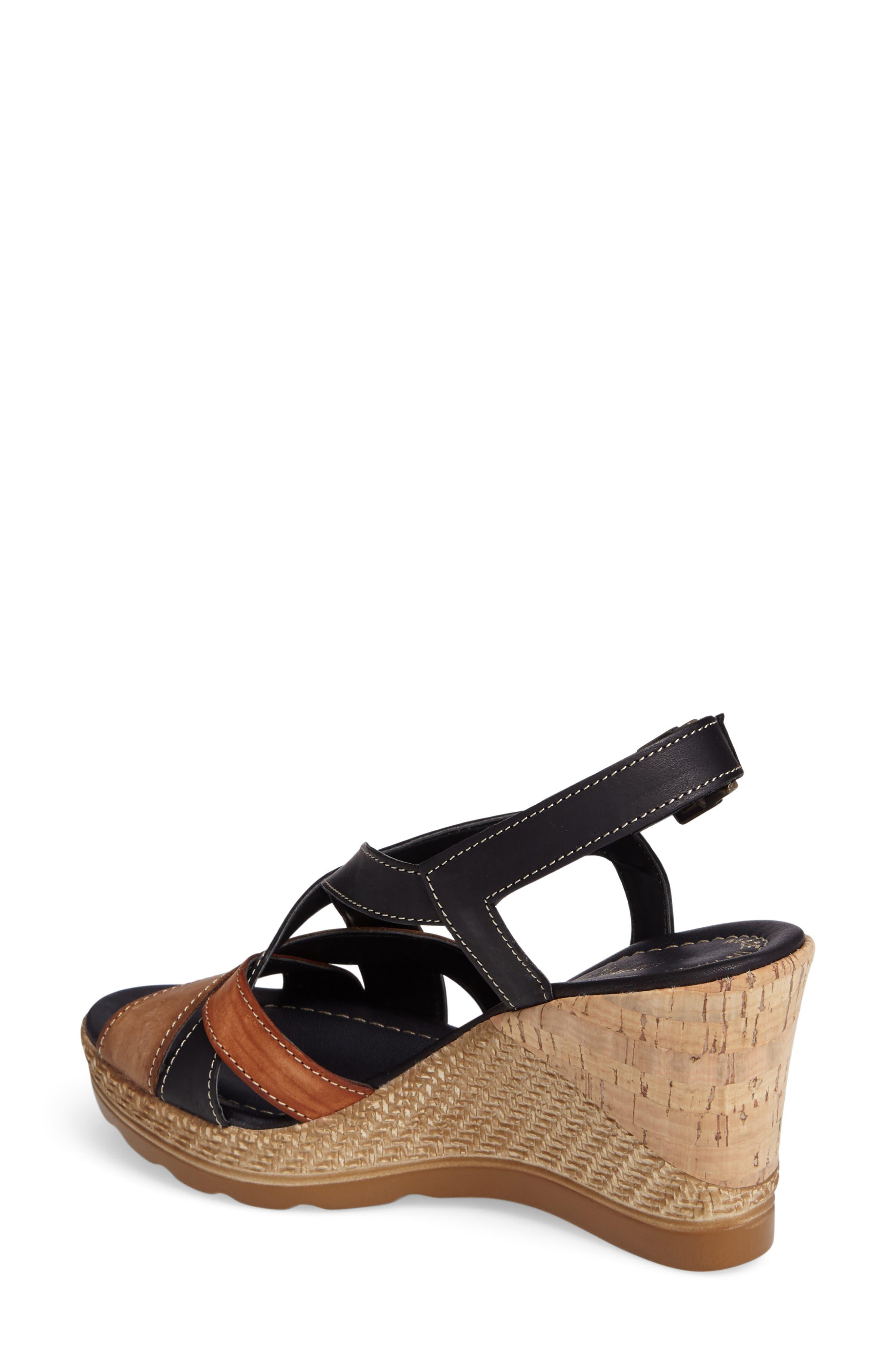 Modena Wedge Sandal,                             Alternate thumbnail 2, color,                             001