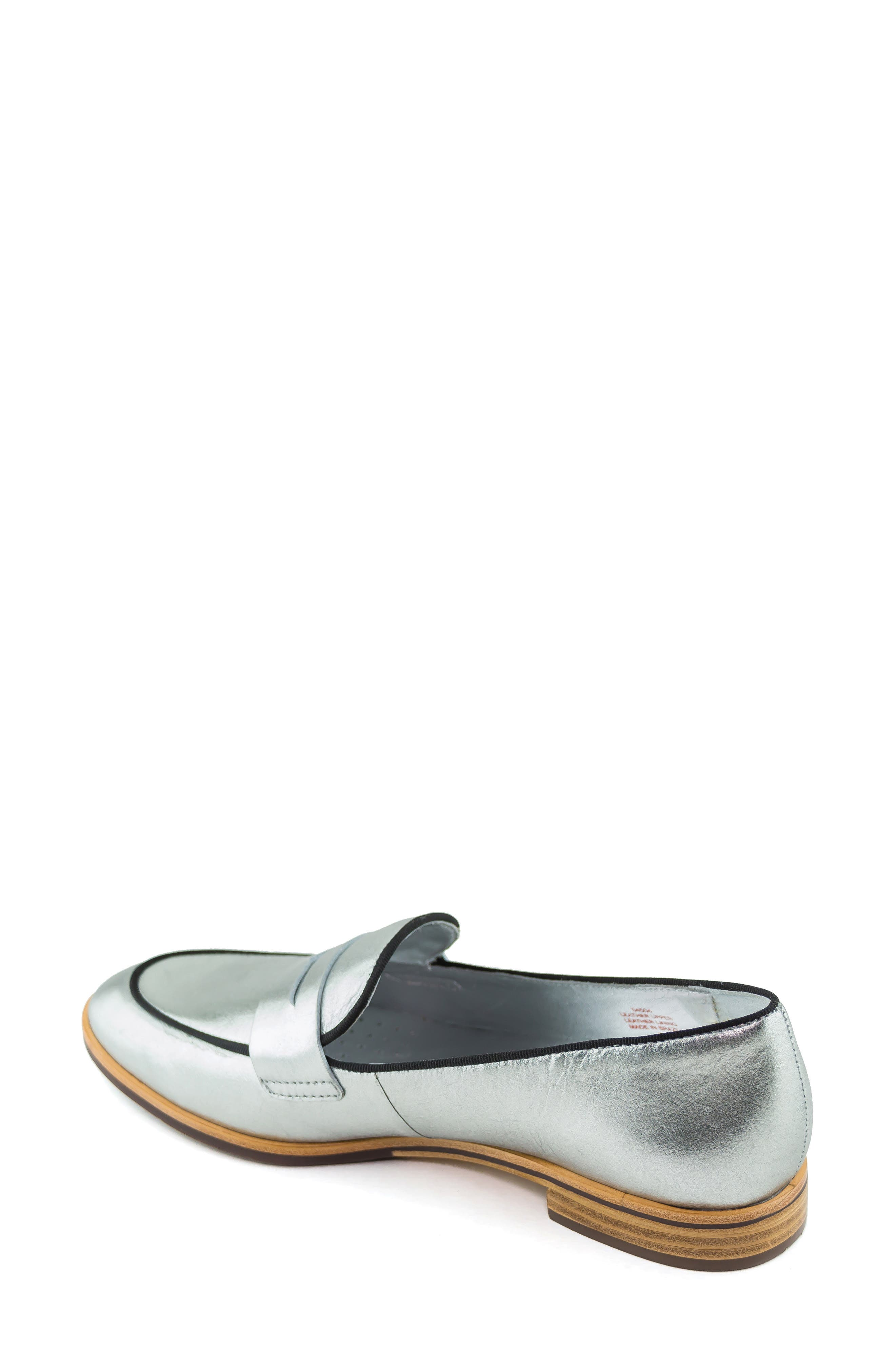 Bryant Park Loafer,                             Alternate thumbnail 2, color,                             GIPSY SILVER LEATHER