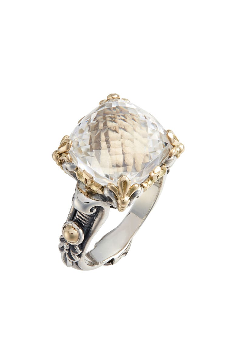 Konstantino PYTHIA SQUARE CRYSTAL RING