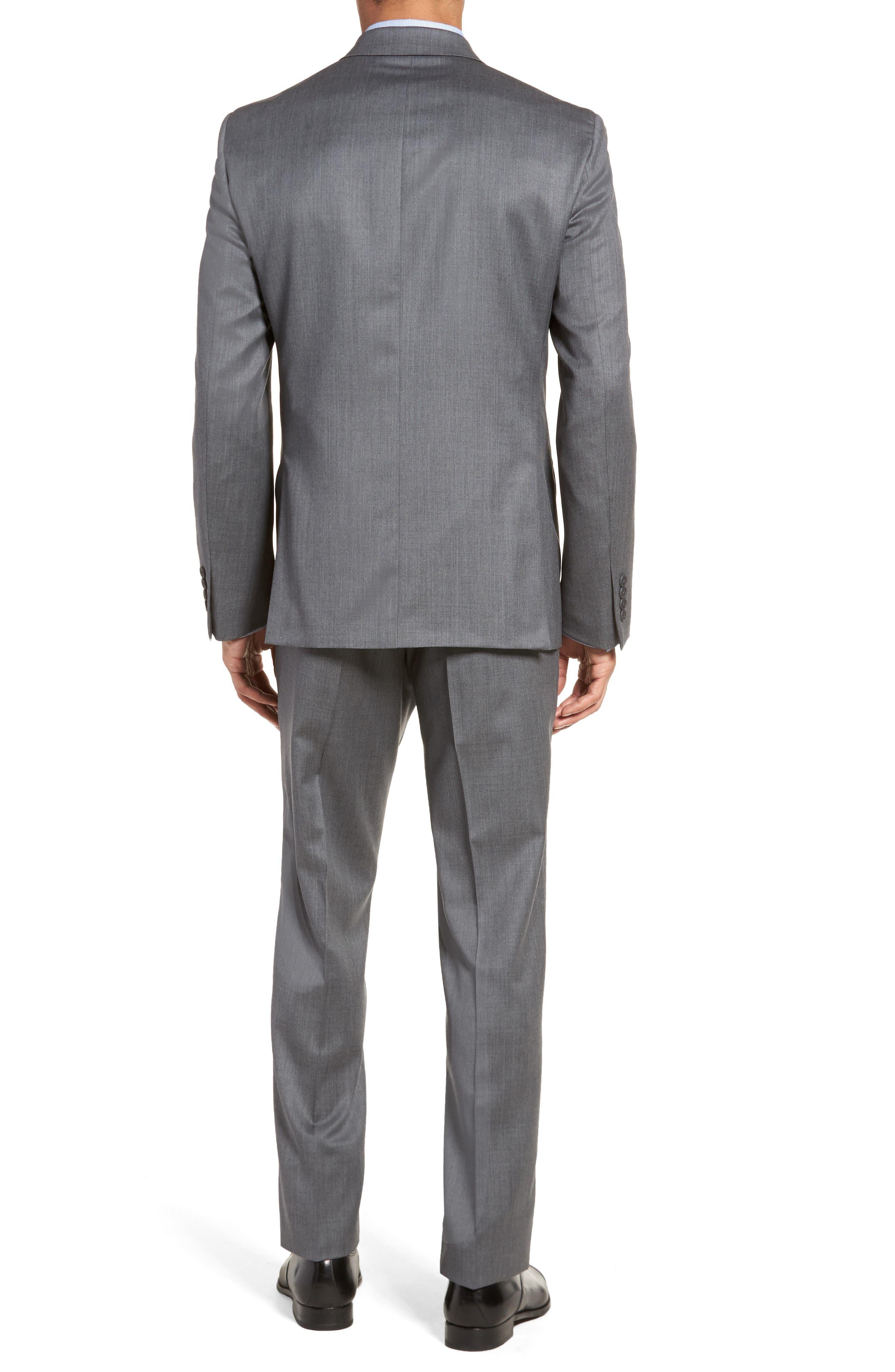 Trim Fit Solid Wool Suit,                             Alternate thumbnail 5, color,