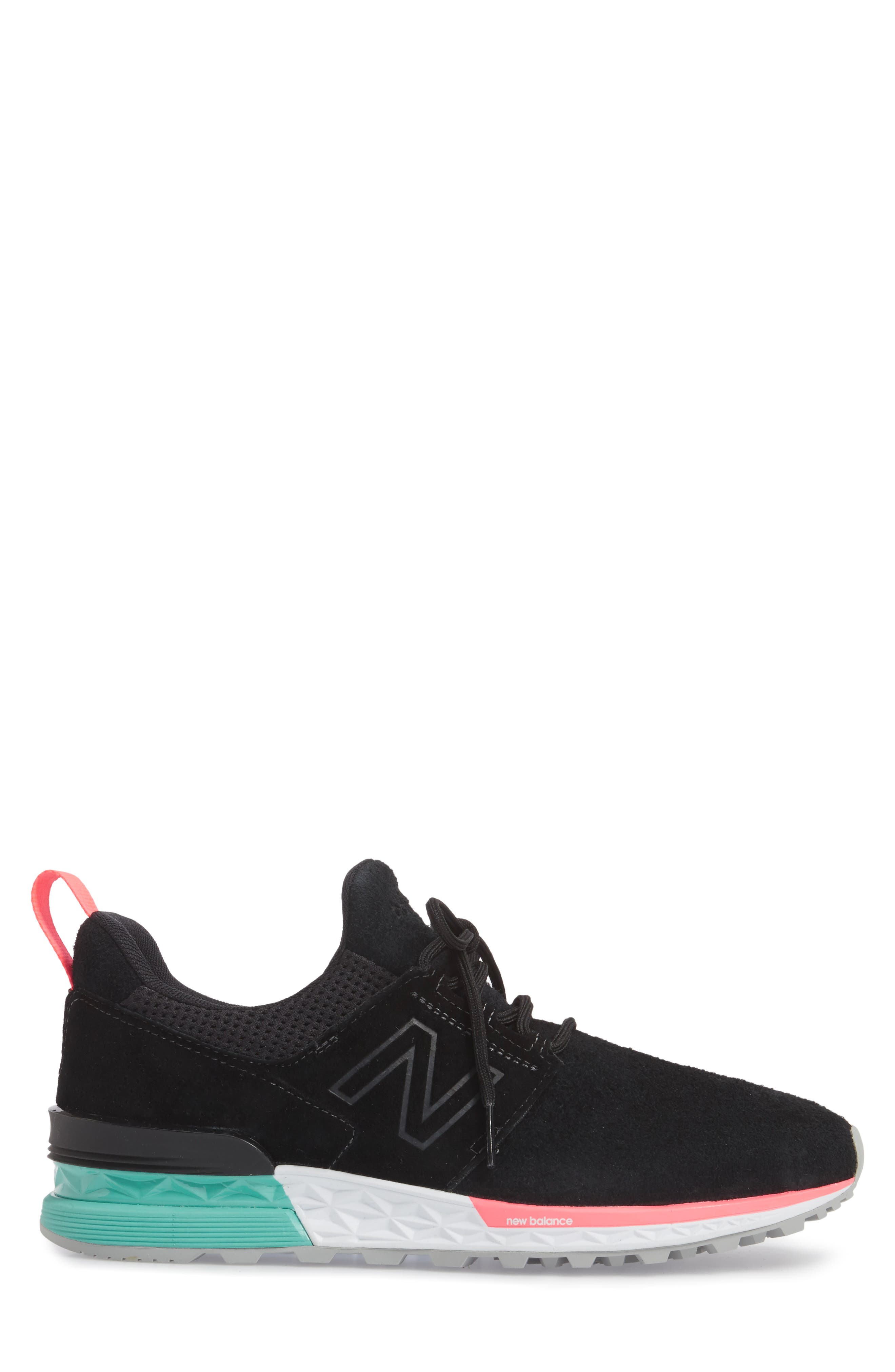 574 Sport Sneaker,                             Alternate thumbnail 3, color,                             001