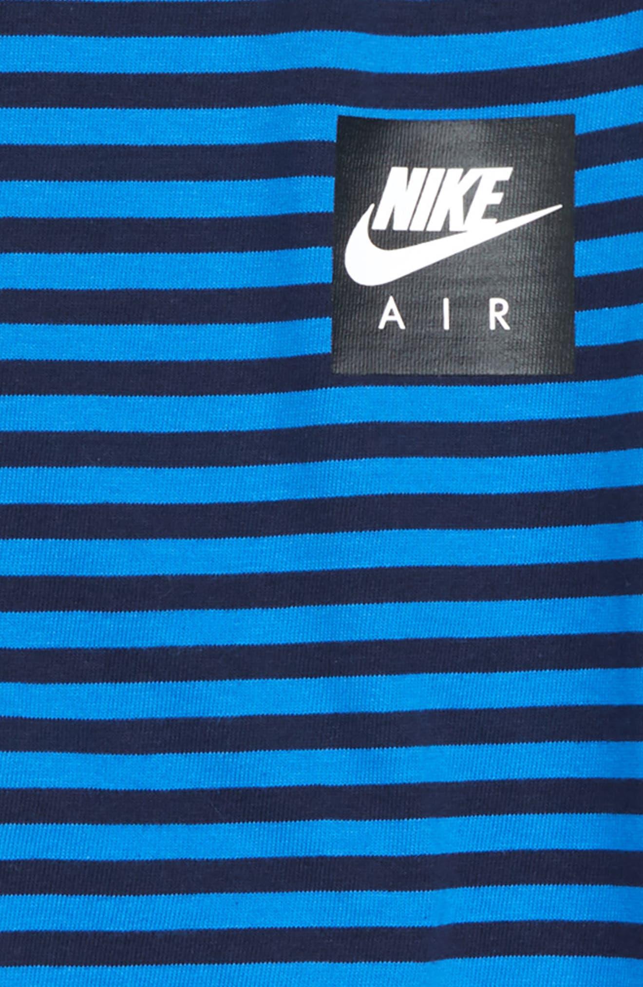 Air T-Shirt,                             Alternate thumbnail 2, color,                             OBSIDIAN/ SIGNAL BLUE