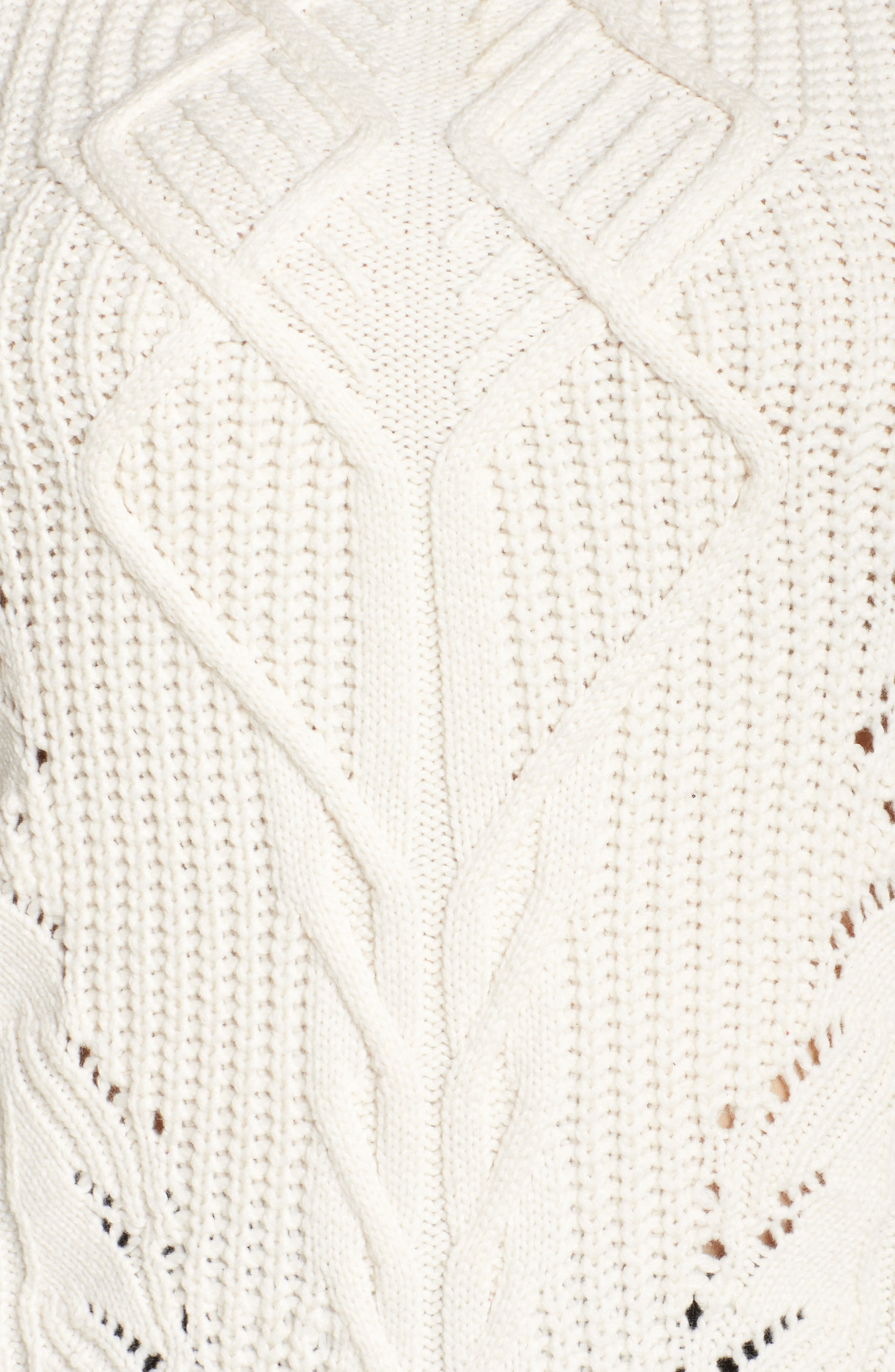 Cold Shoulder Cable Sweater,                             Alternate thumbnail 14, color,