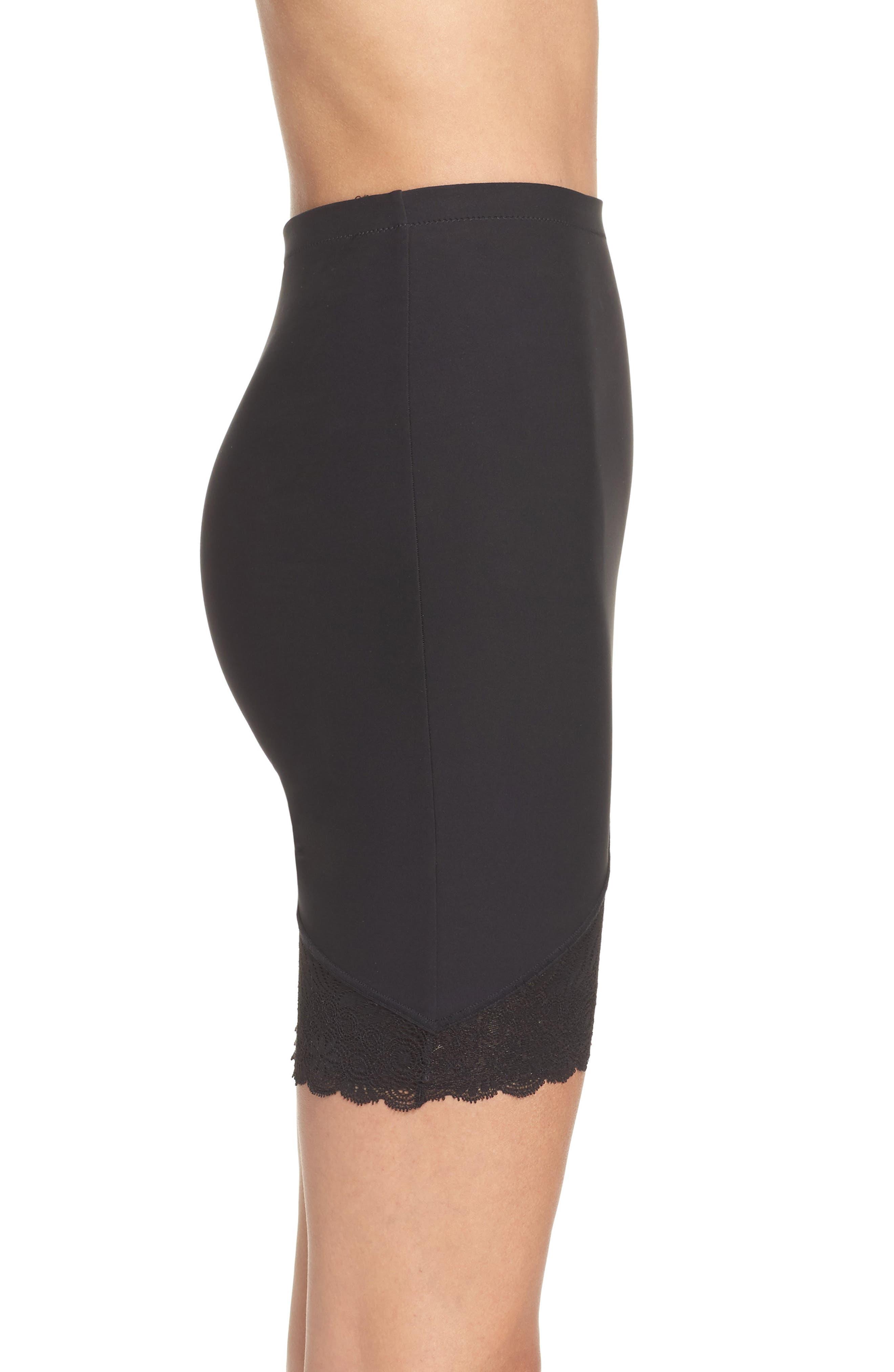 Top Model High Waist Skirt Shaper,                             Alternate thumbnail 2, color,                             001