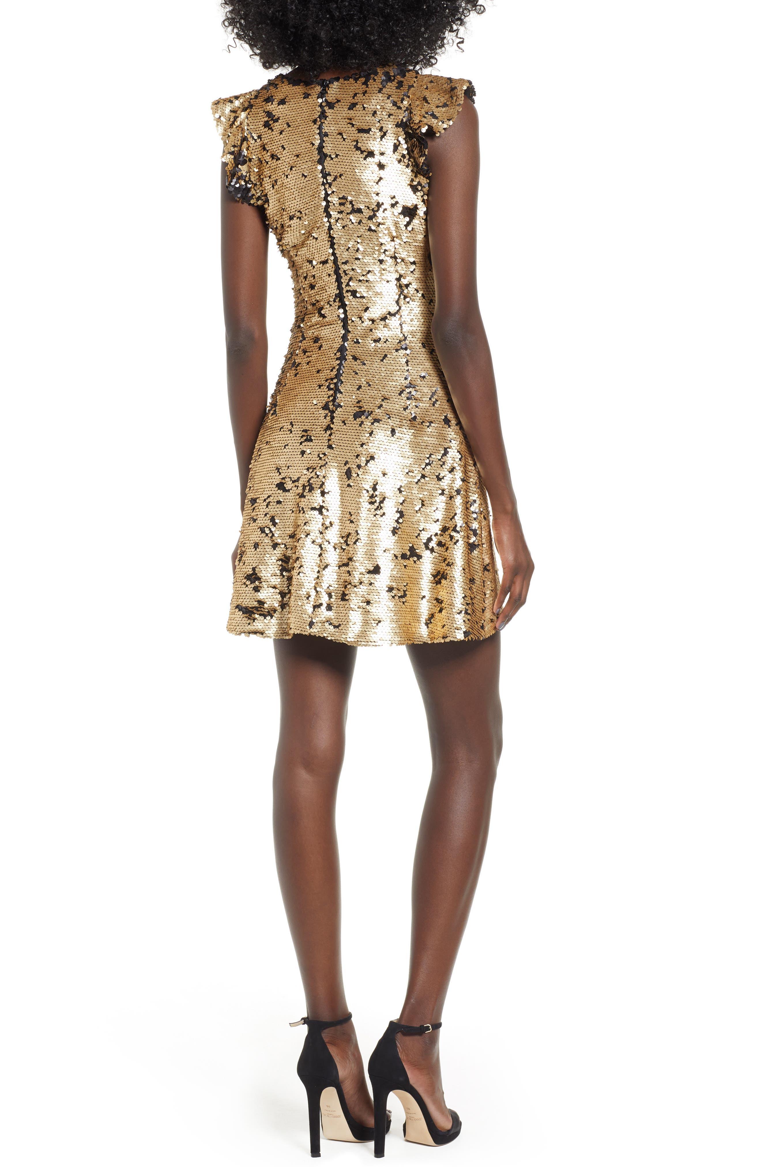 Sequin Babydoll Dress,                             Alternate thumbnail 2, color,                             710
