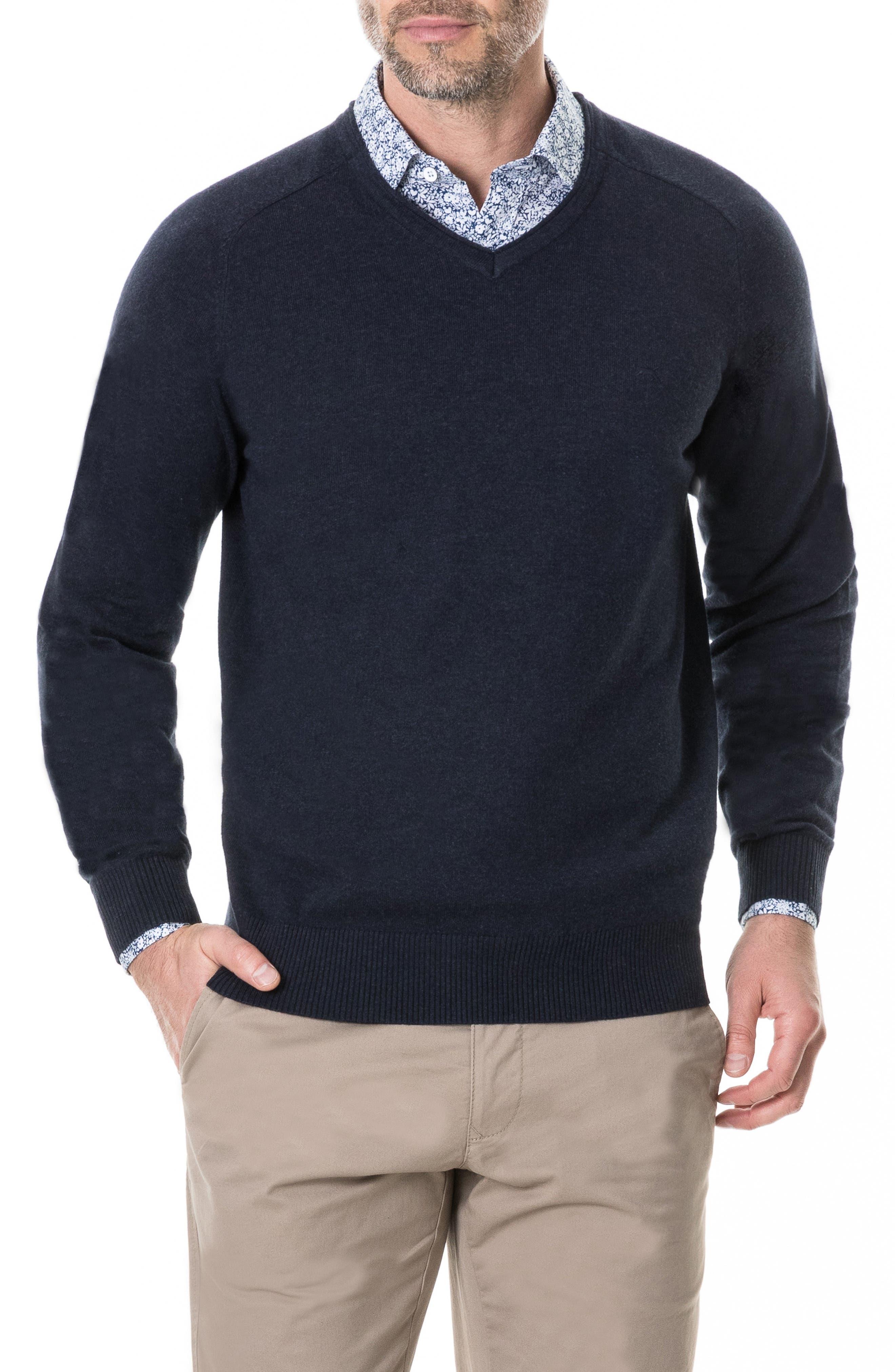 Arbors Cotton V-Neck Sweater,                             Main thumbnail 3, color,
