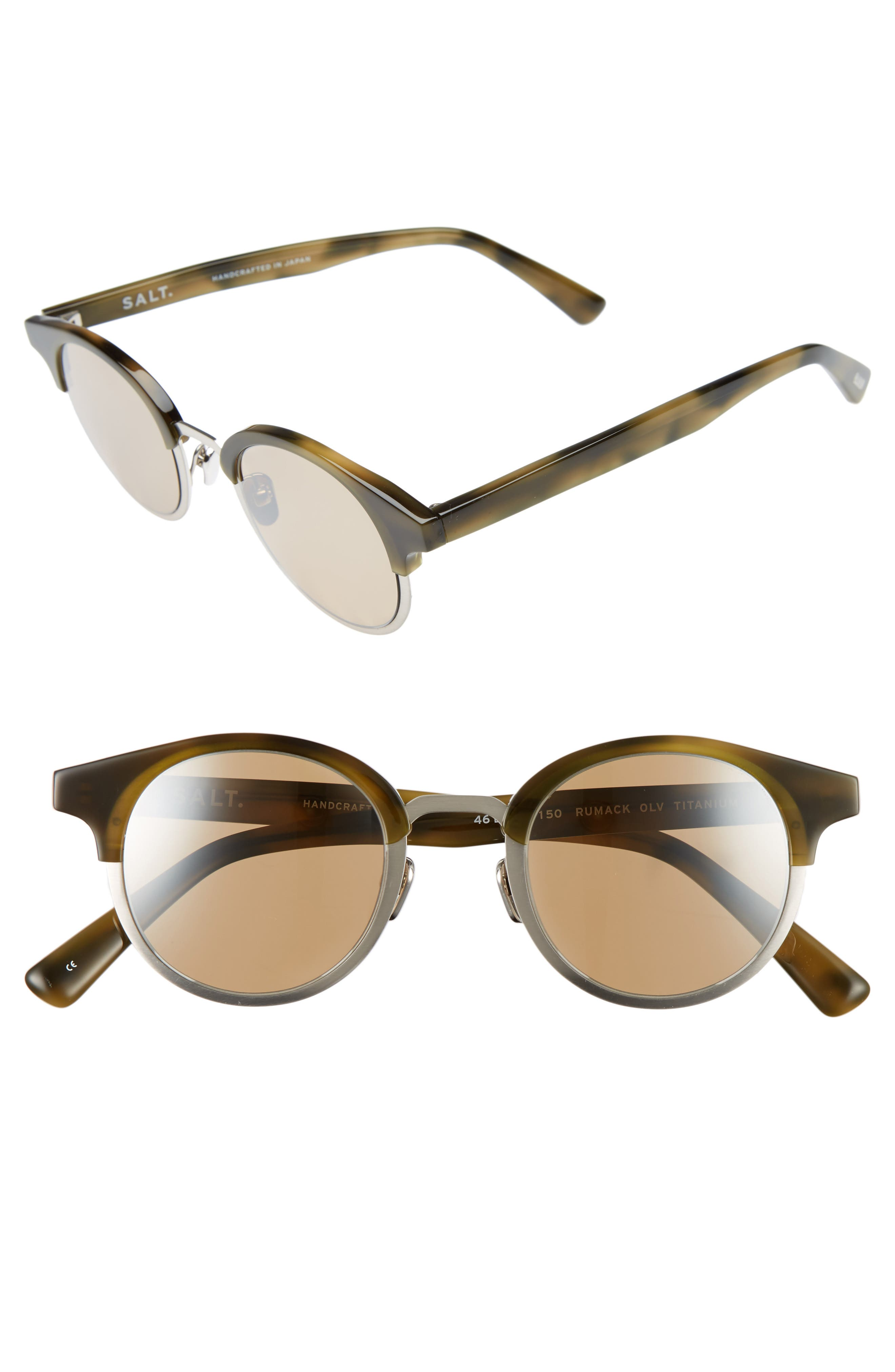 Rumack 46mm Polarized Sunglasses,                         Main,                         color, OLIVE