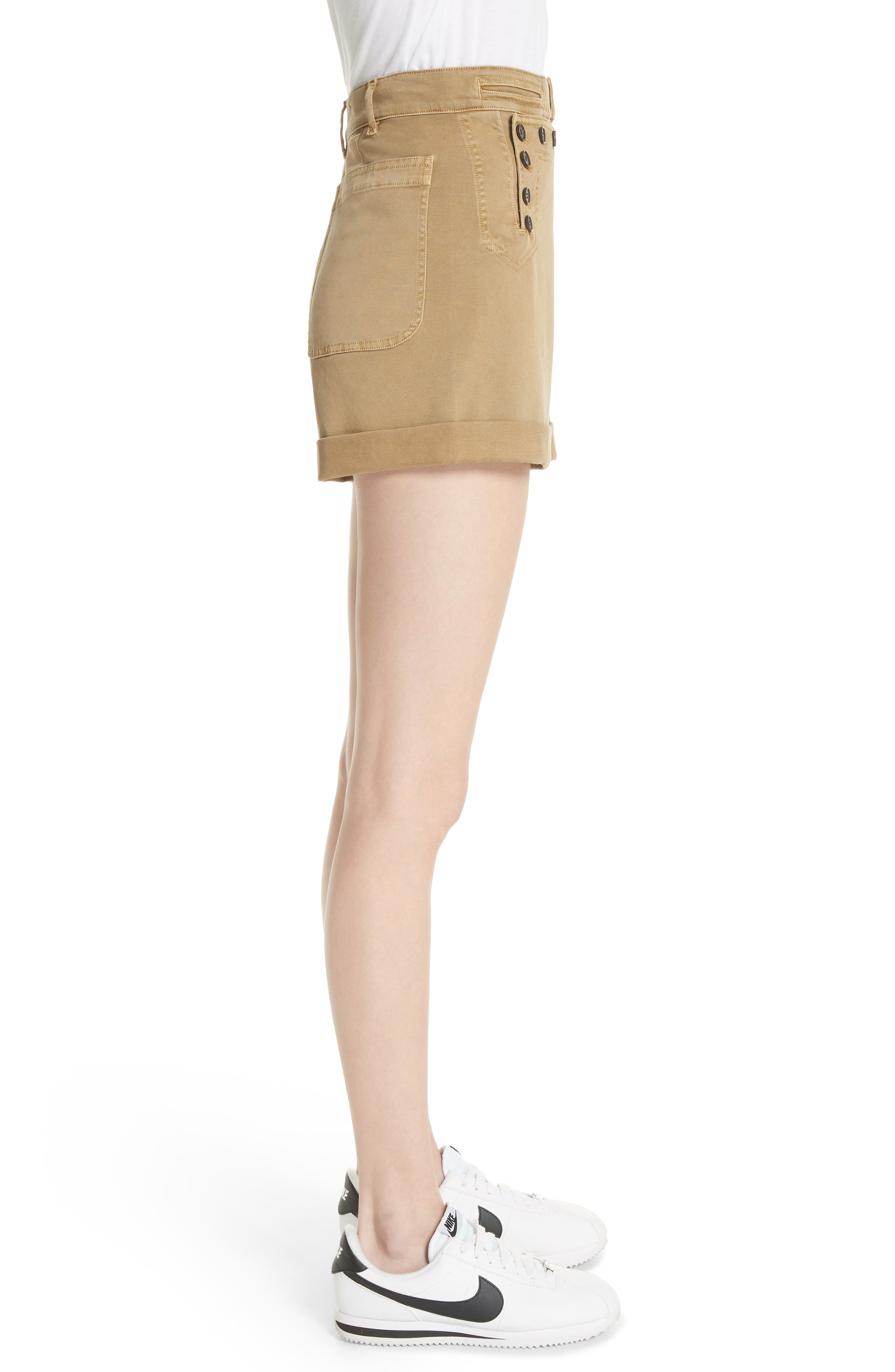 Pierce High Waist Sailor Shorts,                             Alternate thumbnail 3, color,