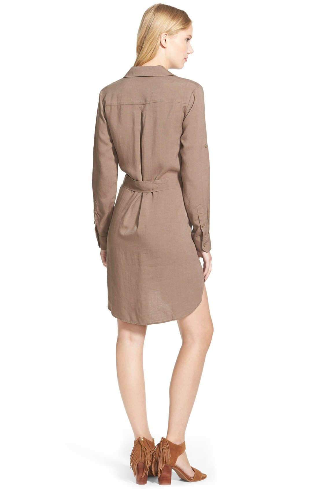 Belted Tencel<sup>®</sup> Shirtdress,                             Alternate thumbnail 3, color,                             020