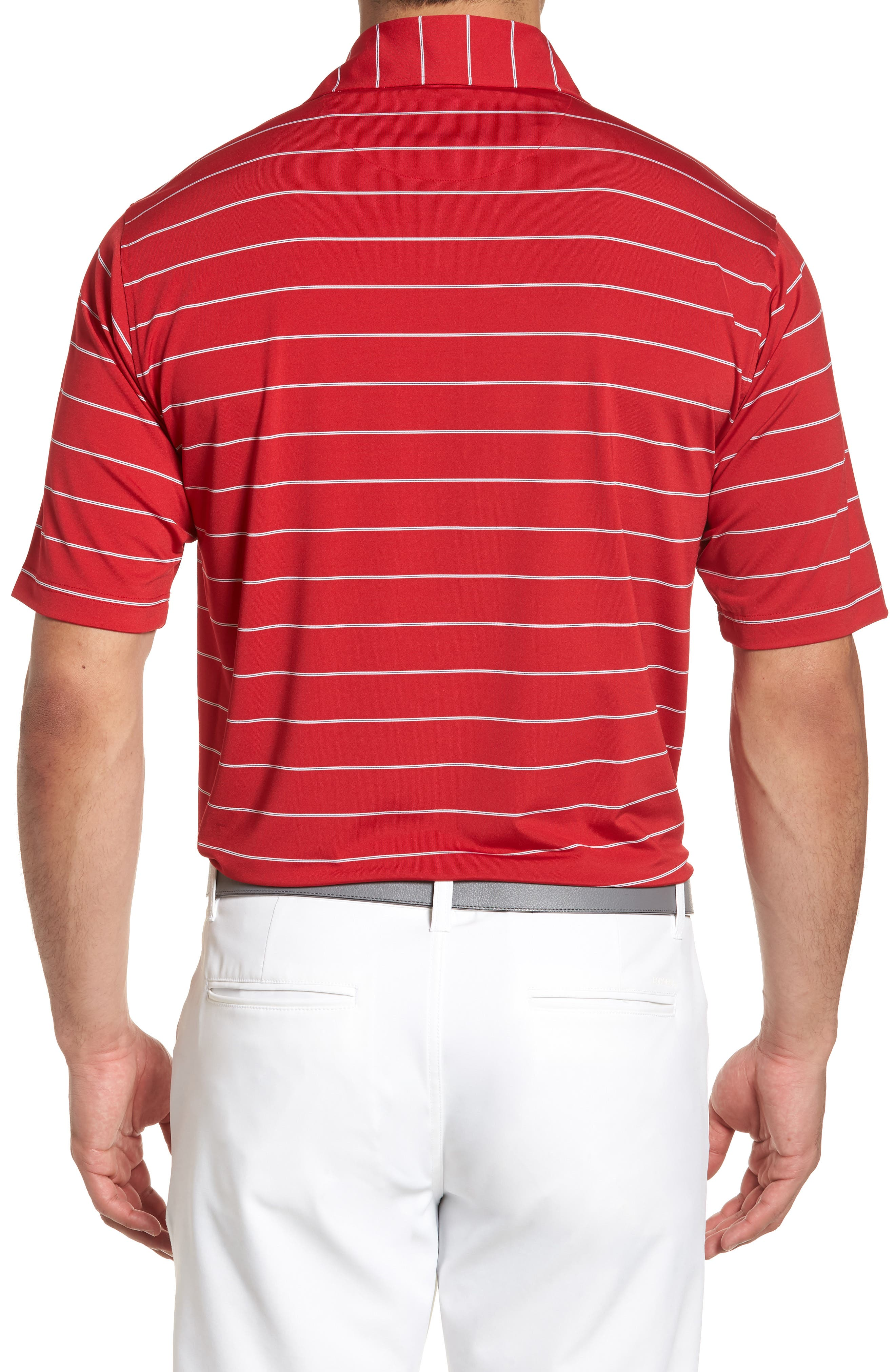 XH2O Momentum Stripe Jersey Polo,                             Alternate thumbnail 2, color,                             CAMBRIDGE RED