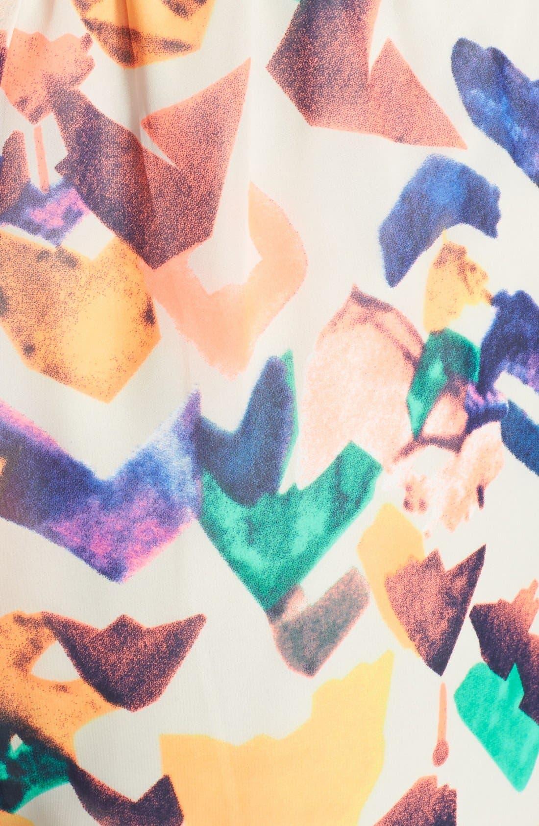 dee elle Geo Print Romper,                             Alternate thumbnail 2, color,