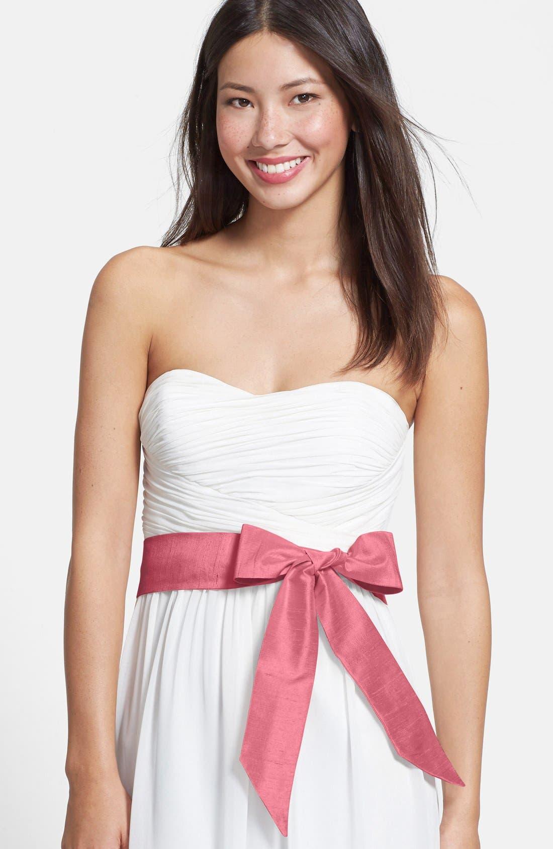 Silk Charmeuse Medium Sash,                         Main,                         color,