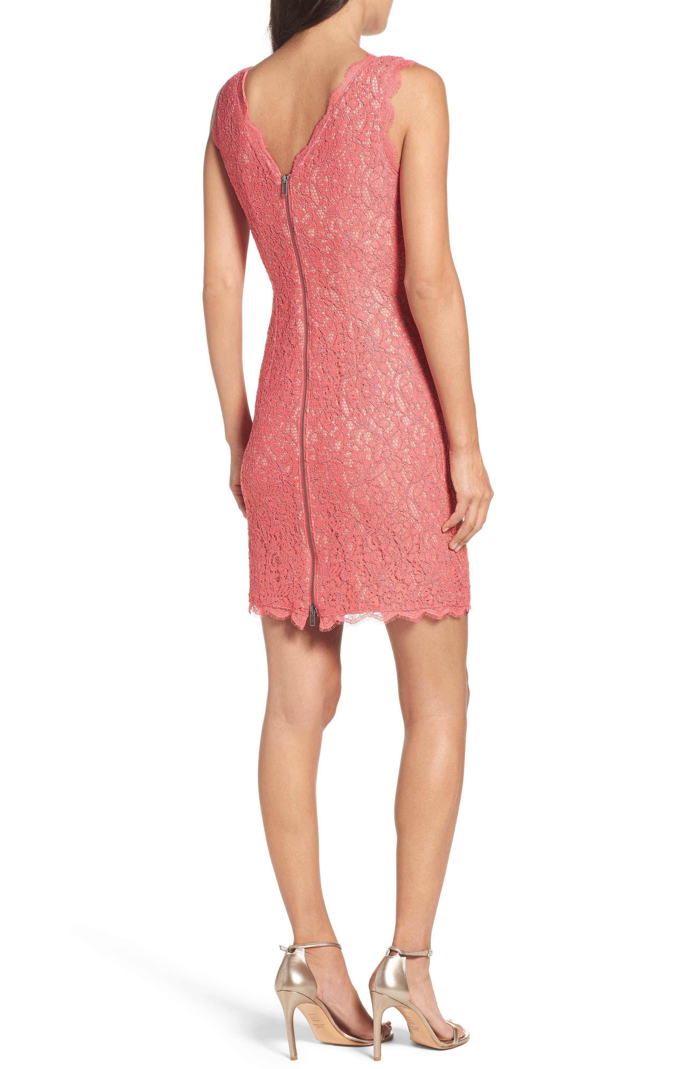 Boatneck Lace Sheath Dress,                             Alternate thumbnail 64, color,