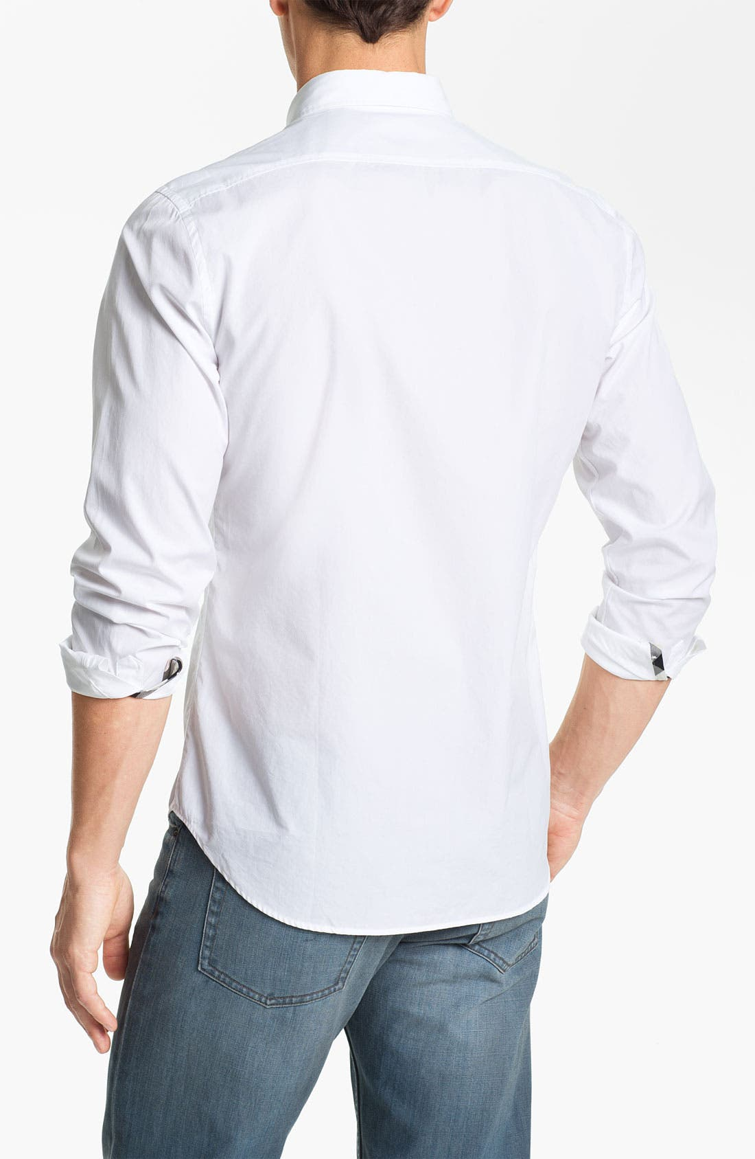 Brit 'Fred' Button Down Shirt,                             Alternate thumbnail 4, color,                             100