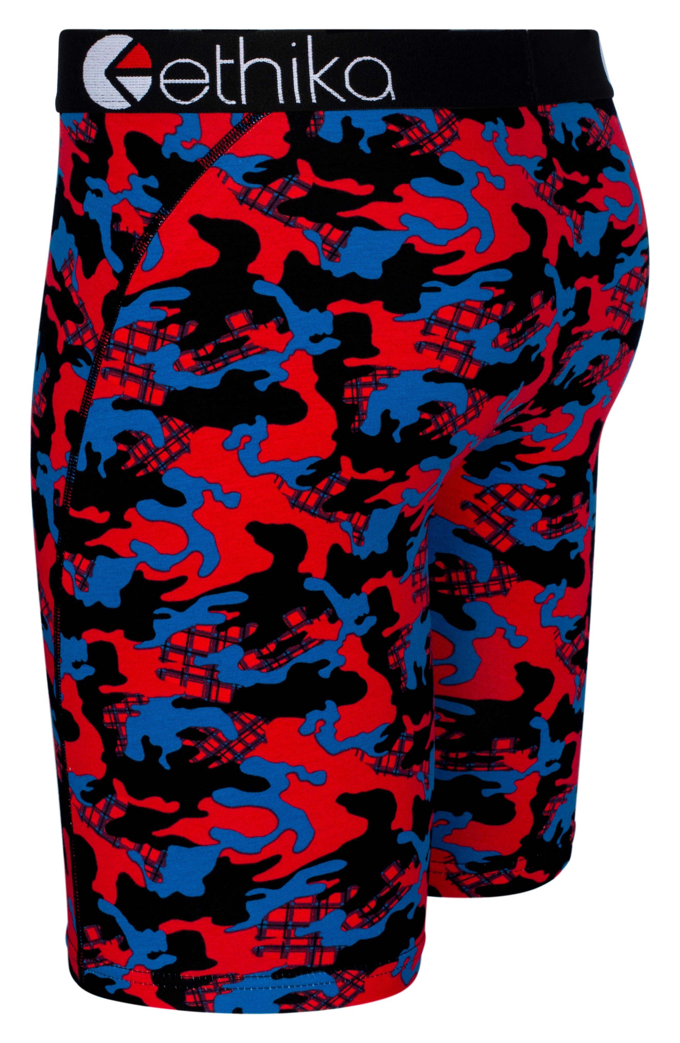 Jacks Camo Boxer Briefs,                             Alternate thumbnail 3, color,                             RED