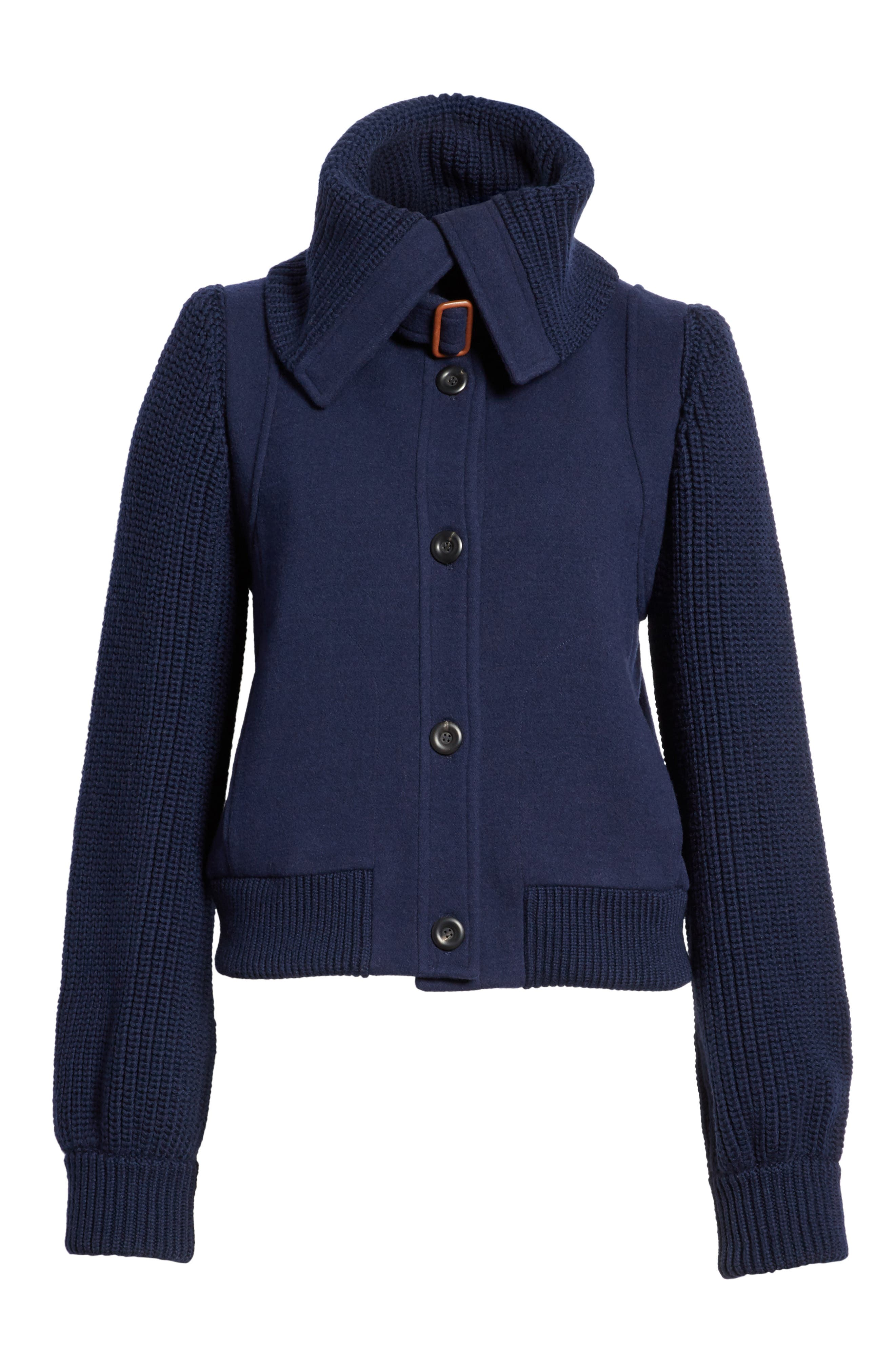 Brushed Stretch Wool Coat,                             Alternate thumbnail 5, color,                             451
