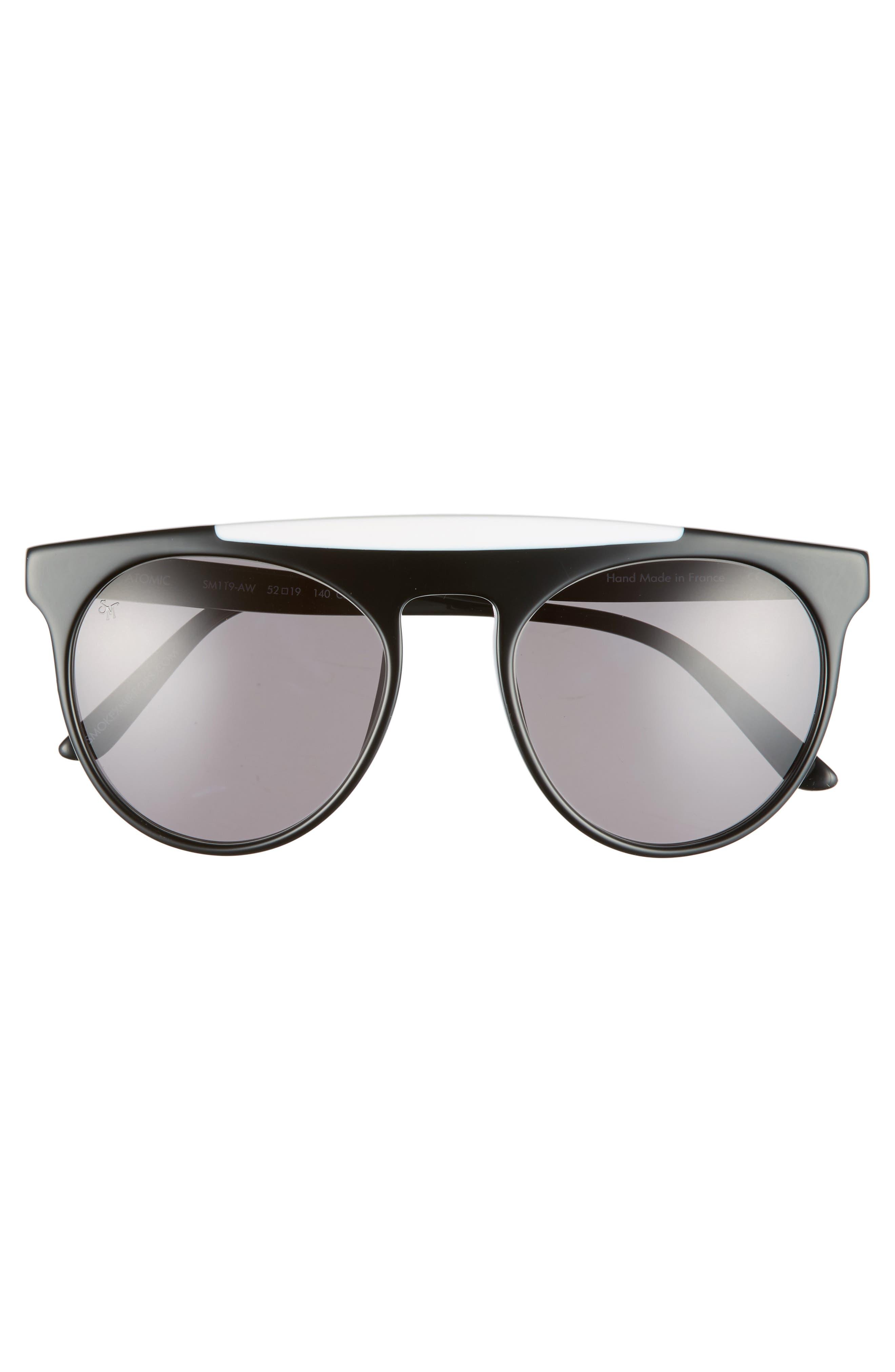 Atomic 52mm Sunglasses,                             Alternate thumbnail 2, color,                             001
