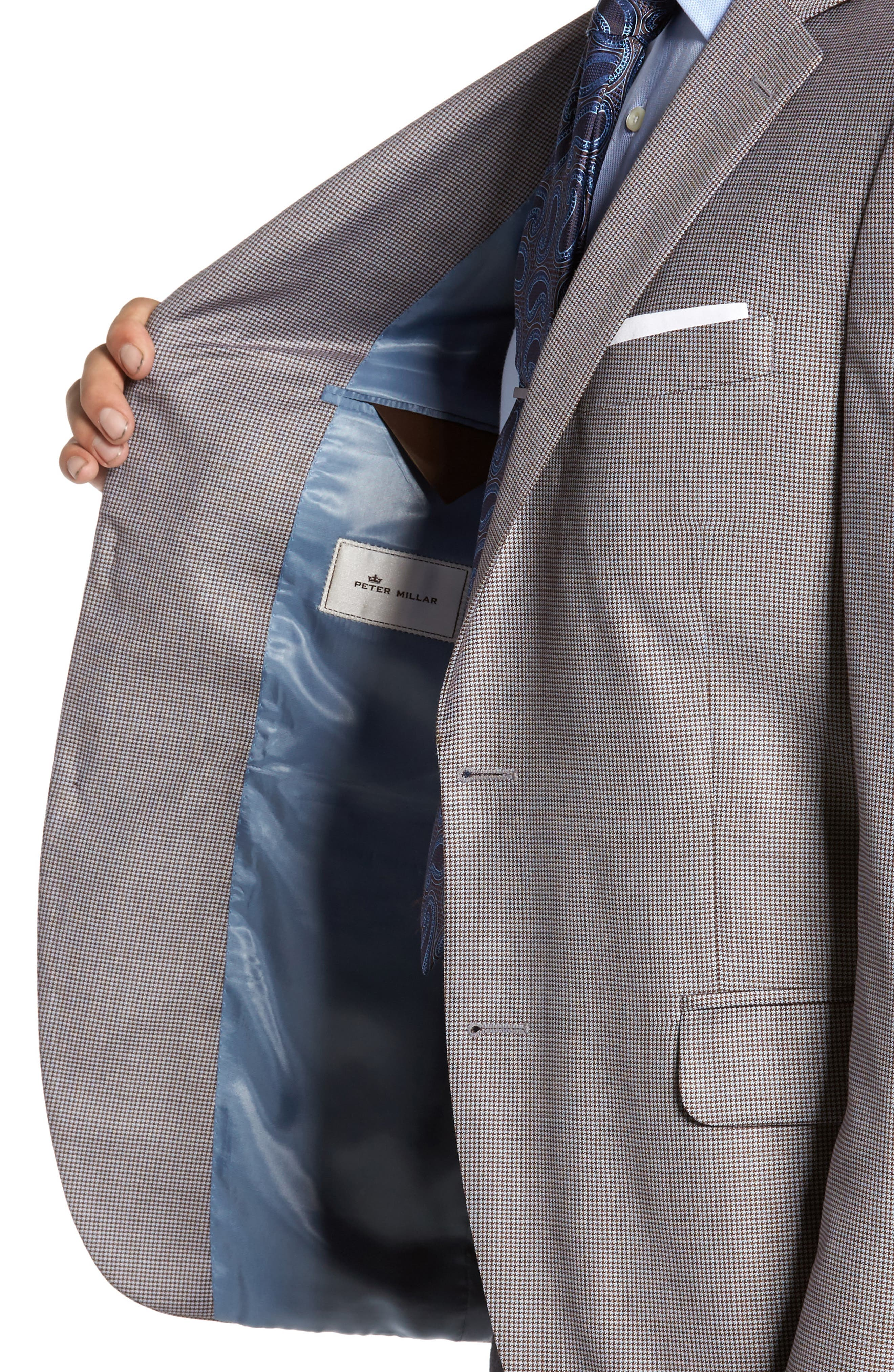 Classic Fit Houndstooth Wool Sport Coat,                             Alternate thumbnail 4, color,                             420