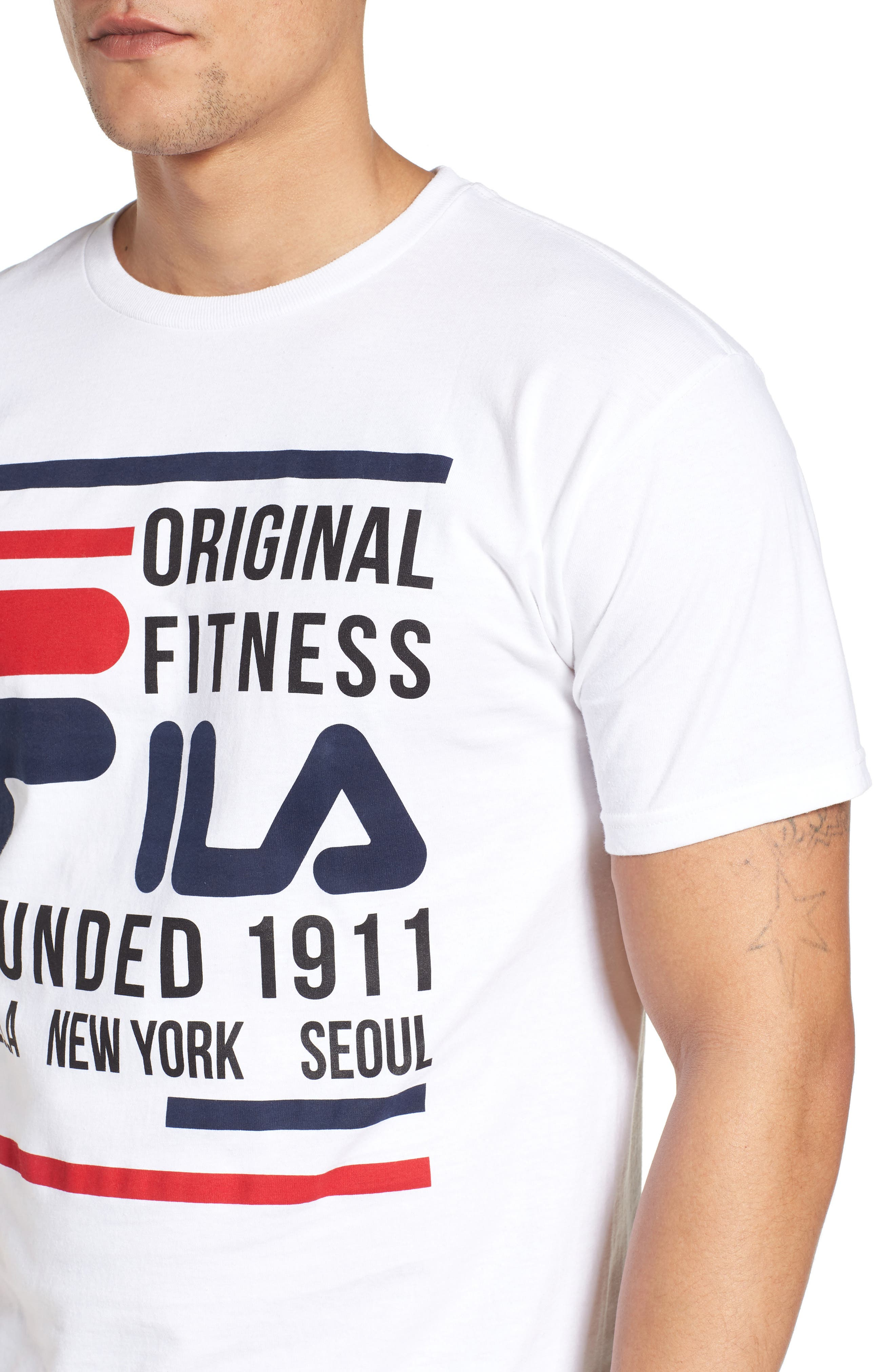 Original Fitness Graphic T-Shirt,                             Alternate thumbnail 4, color,                             WHITE/ BLACK/ CHINESE RED