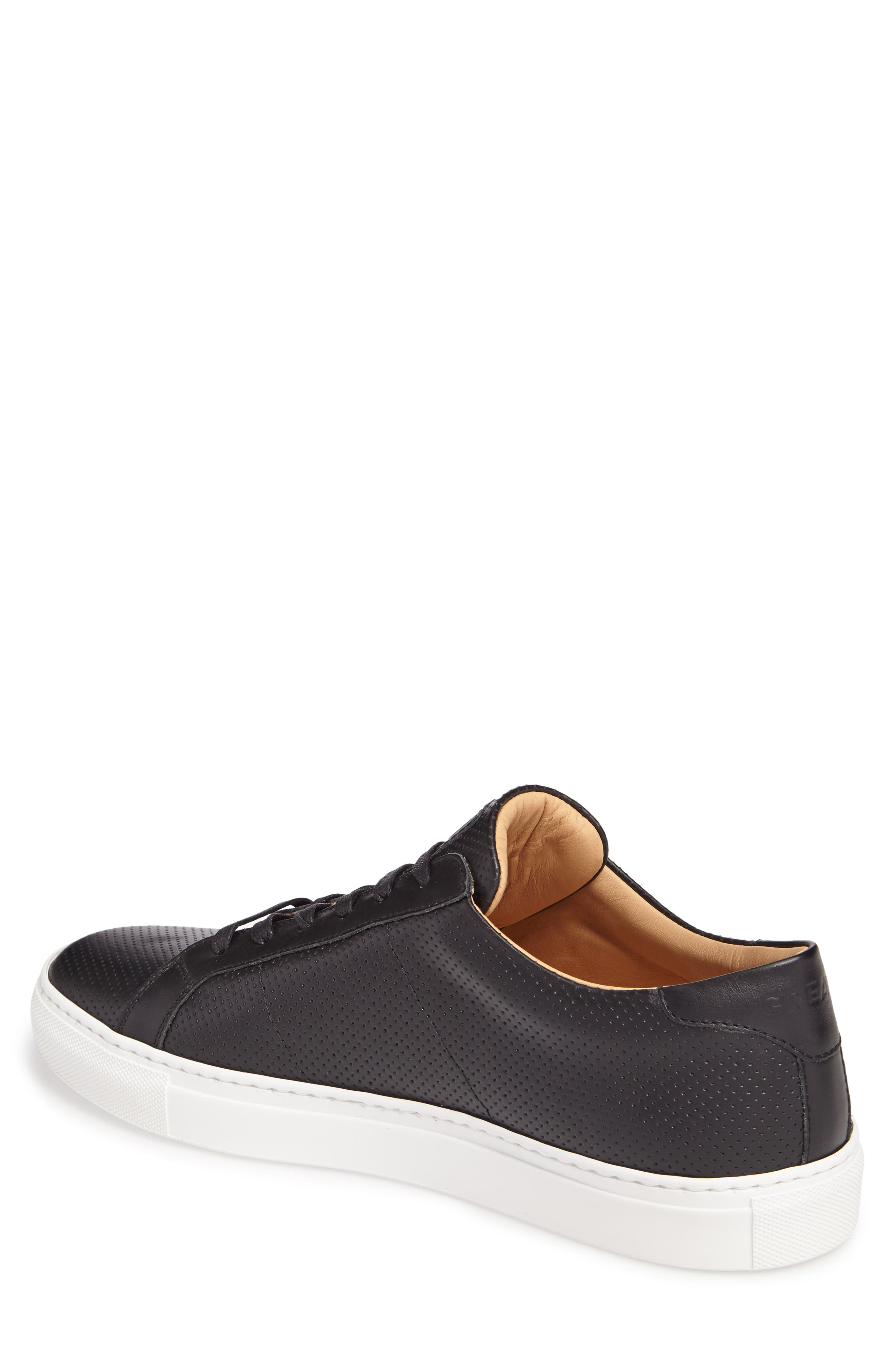 Royale Perforated Low Top Sneaker,                             Alternate thumbnail 2, color,                             001