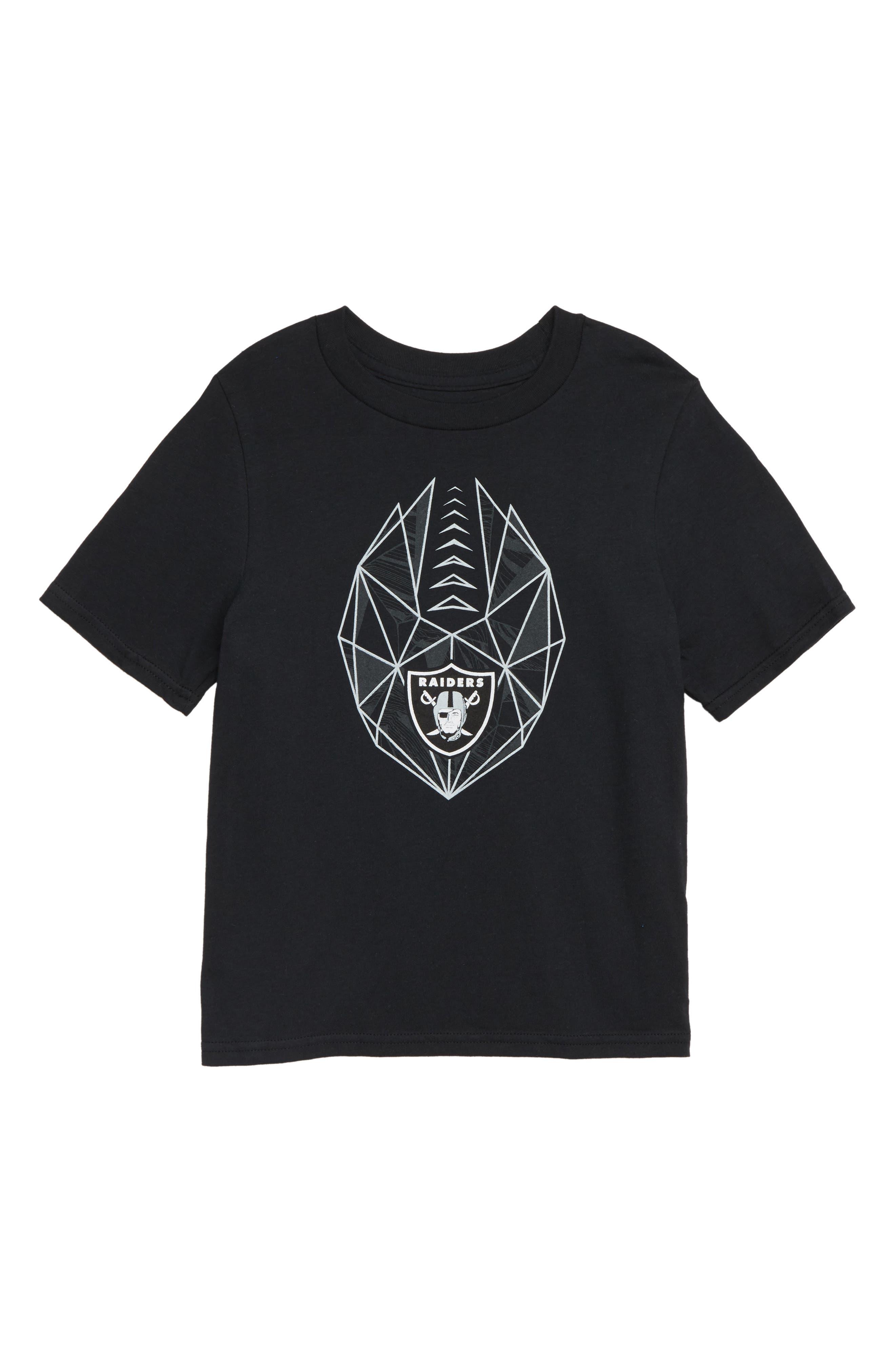 NFL Logo Oakland Raiders Graphic T-Shirt,                             Main thumbnail 1, color,                             BLACK