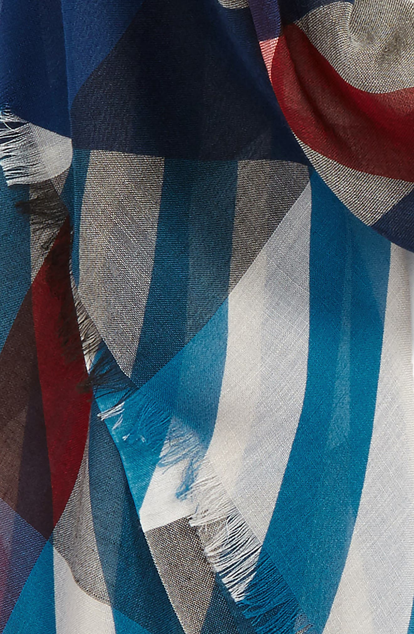 Stripe & Check Scarf,                             Alternate thumbnail 5, color,