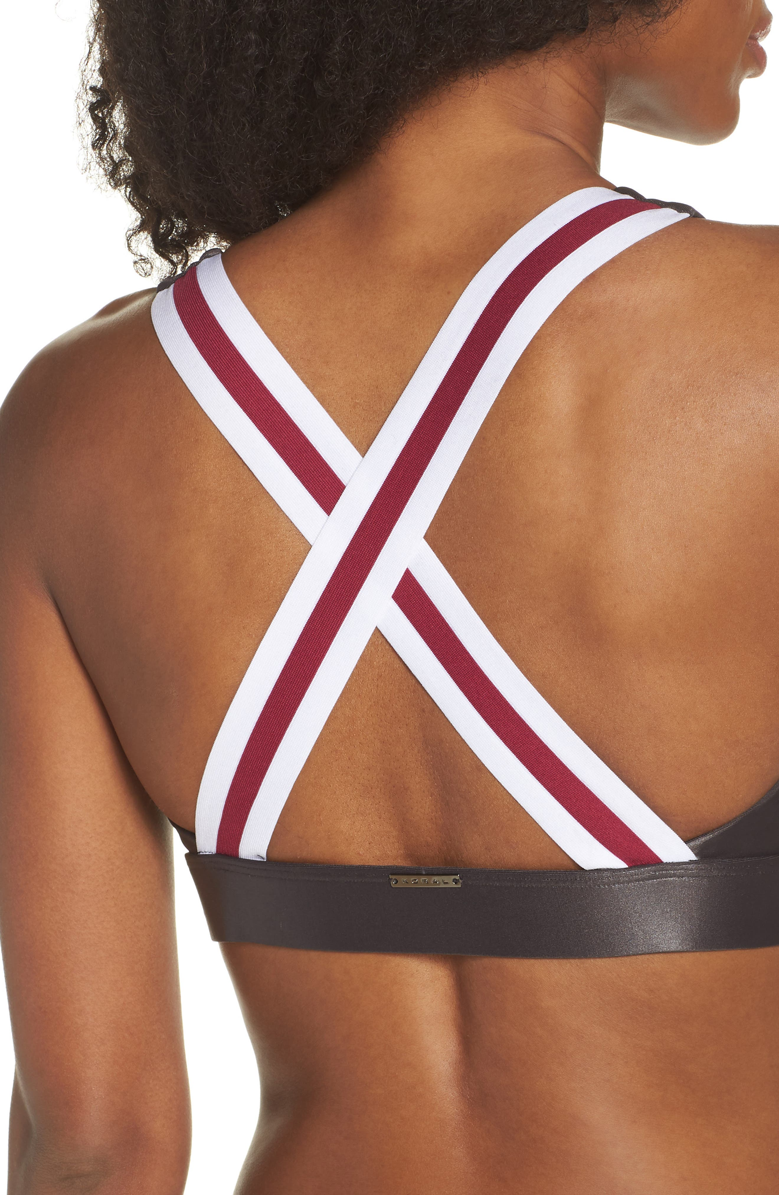 Fame Sports Bra,                             Alternate thumbnail 4, color,                             LEAD