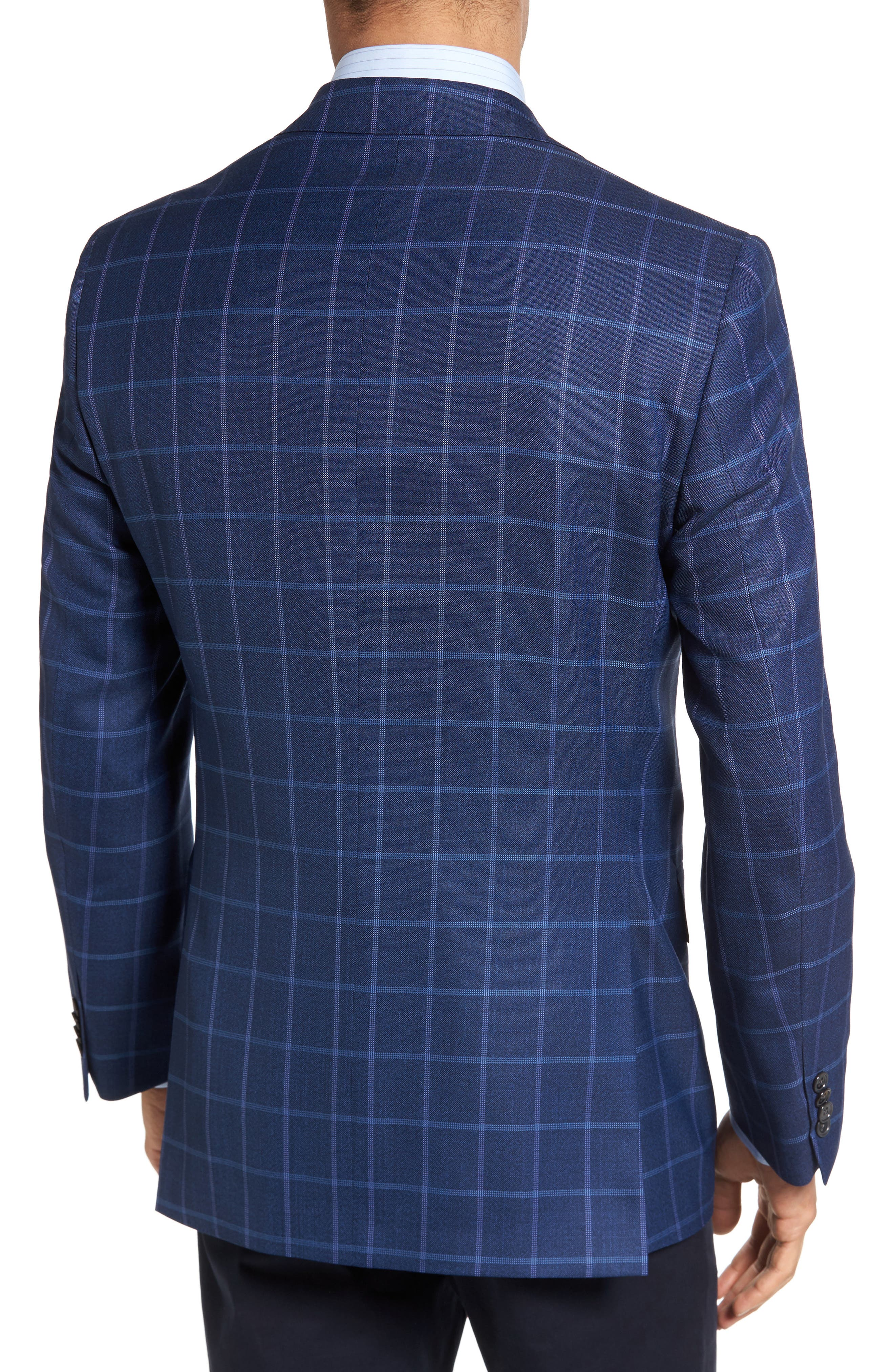 Connor Classic Fit Windowpane Wool Sport Coat,                             Alternate thumbnail 2, color,                             420