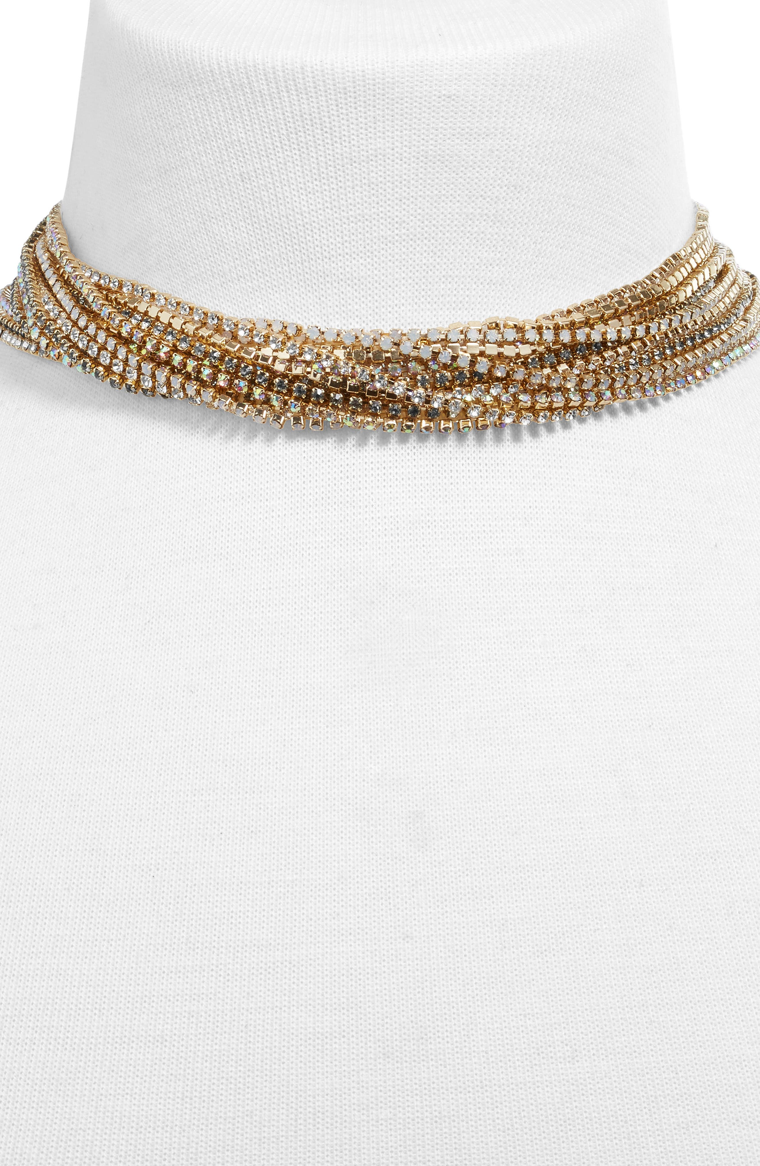 BAUBLEBAR,                             Multistrand Crystal Choker,                             Alternate thumbnail 2, color,                             020