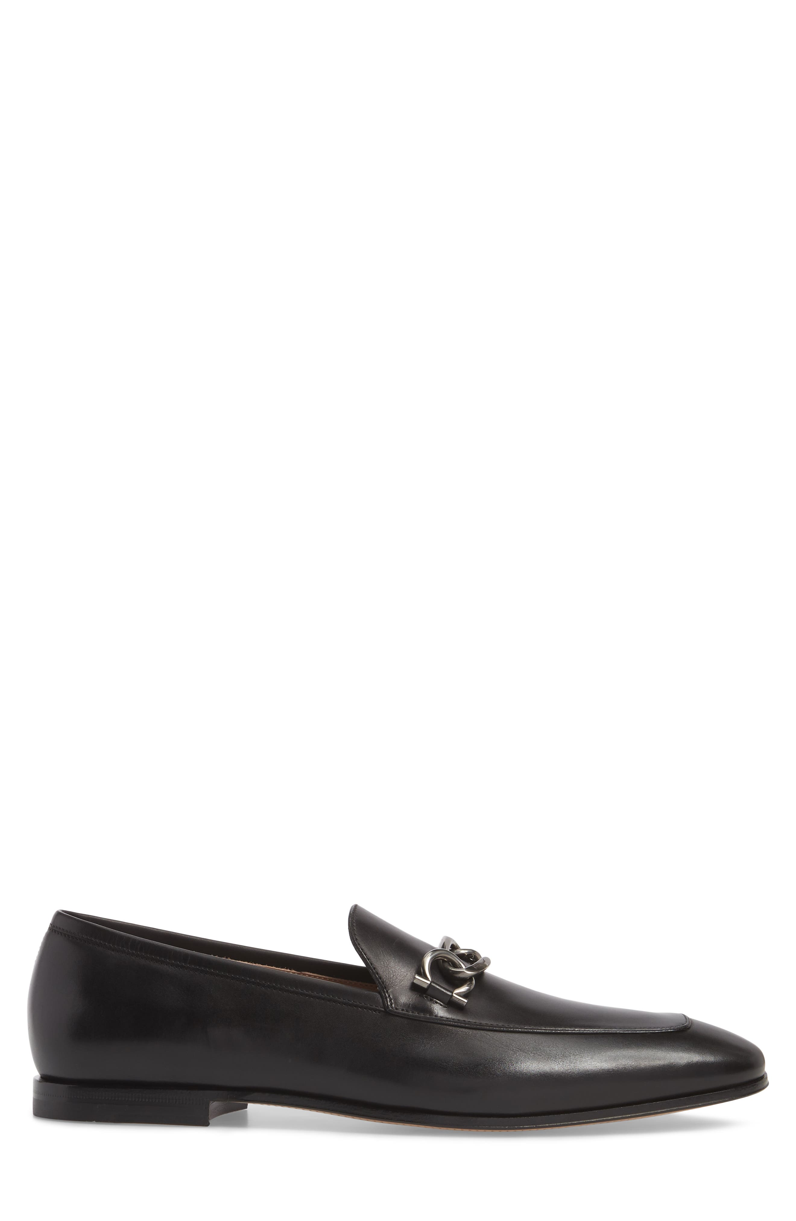 Boy Chain Bit Loafer,                             Alternate thumbnail 3, color,                             NERO LEATHER