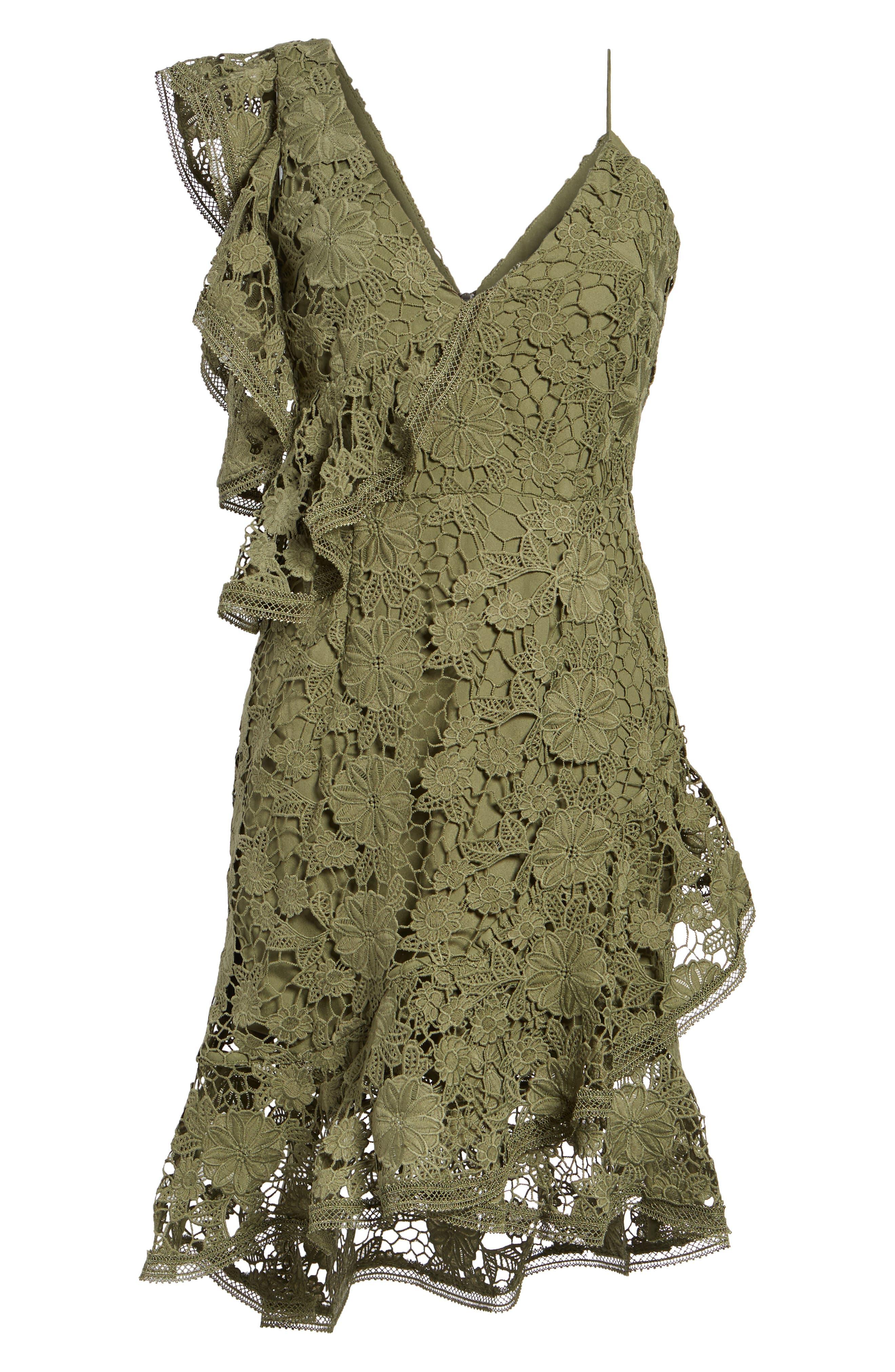 Frameless Lace Sheath Dress,                             Alternate thumbnail 6, color,                             300